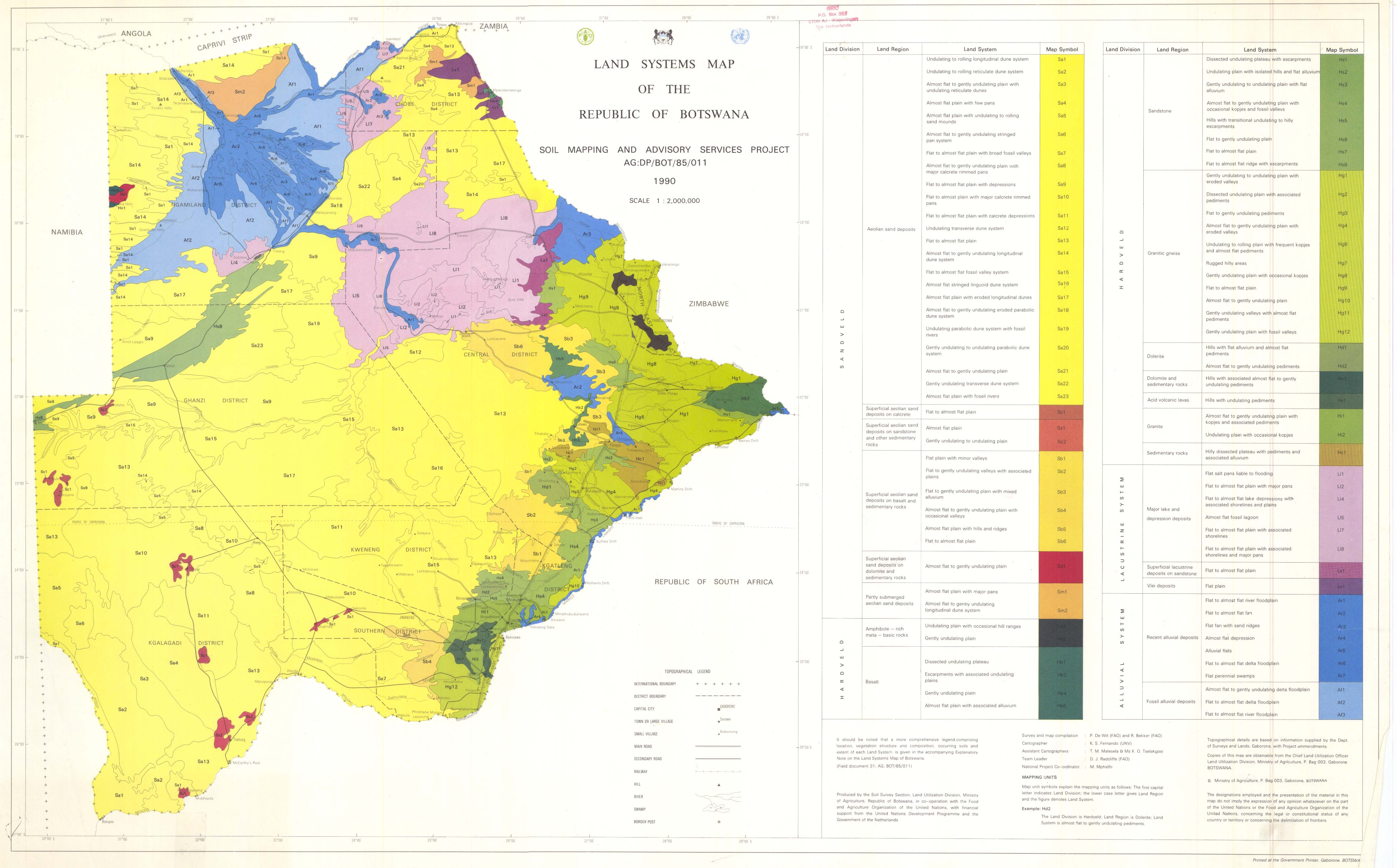 surveys and mapping botswana The Soil Maps Of Africa Display Maps surveys and mapping botswana