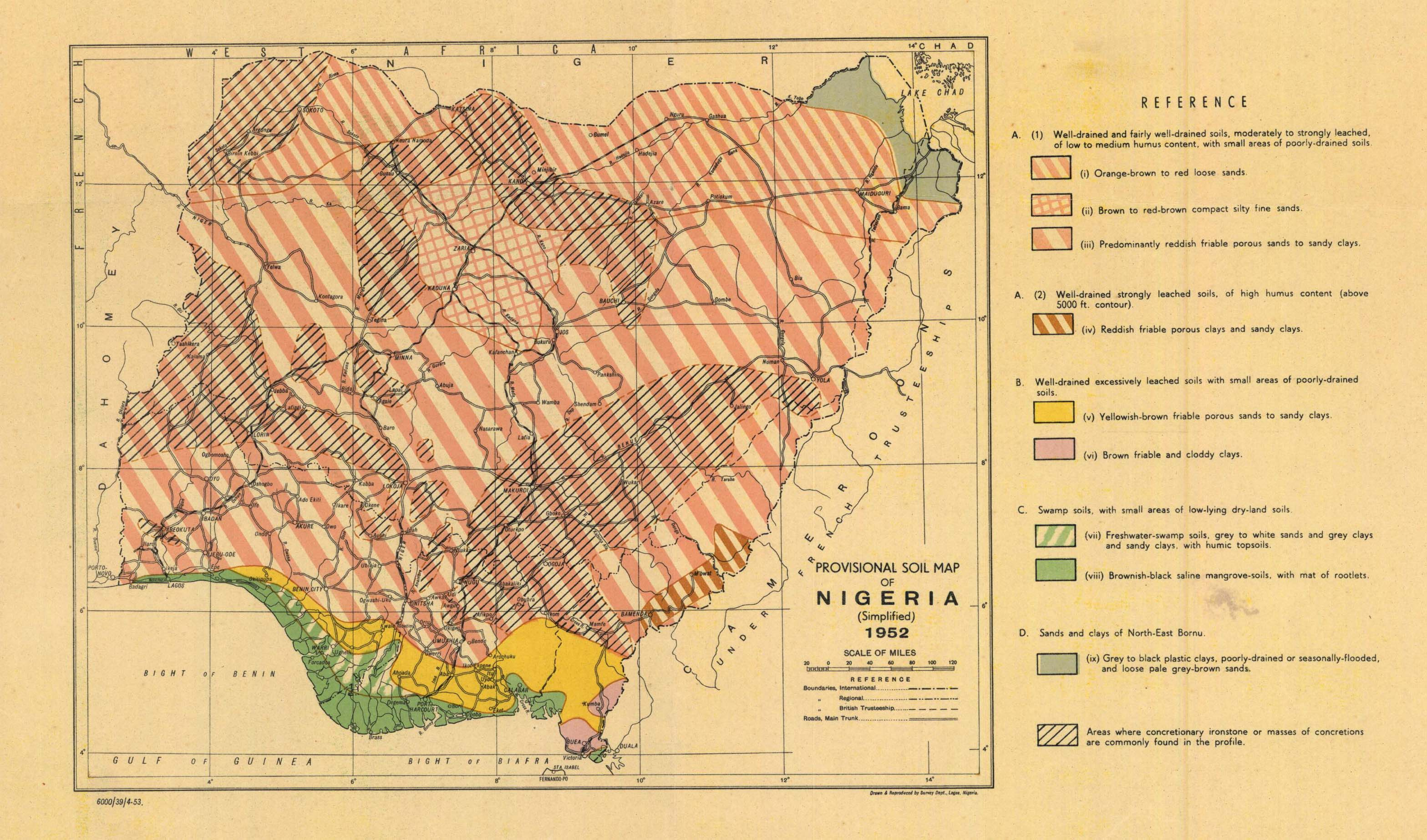 The soil maps of africa display maps title provisional soil map of nigeria ccuart Choice Image
