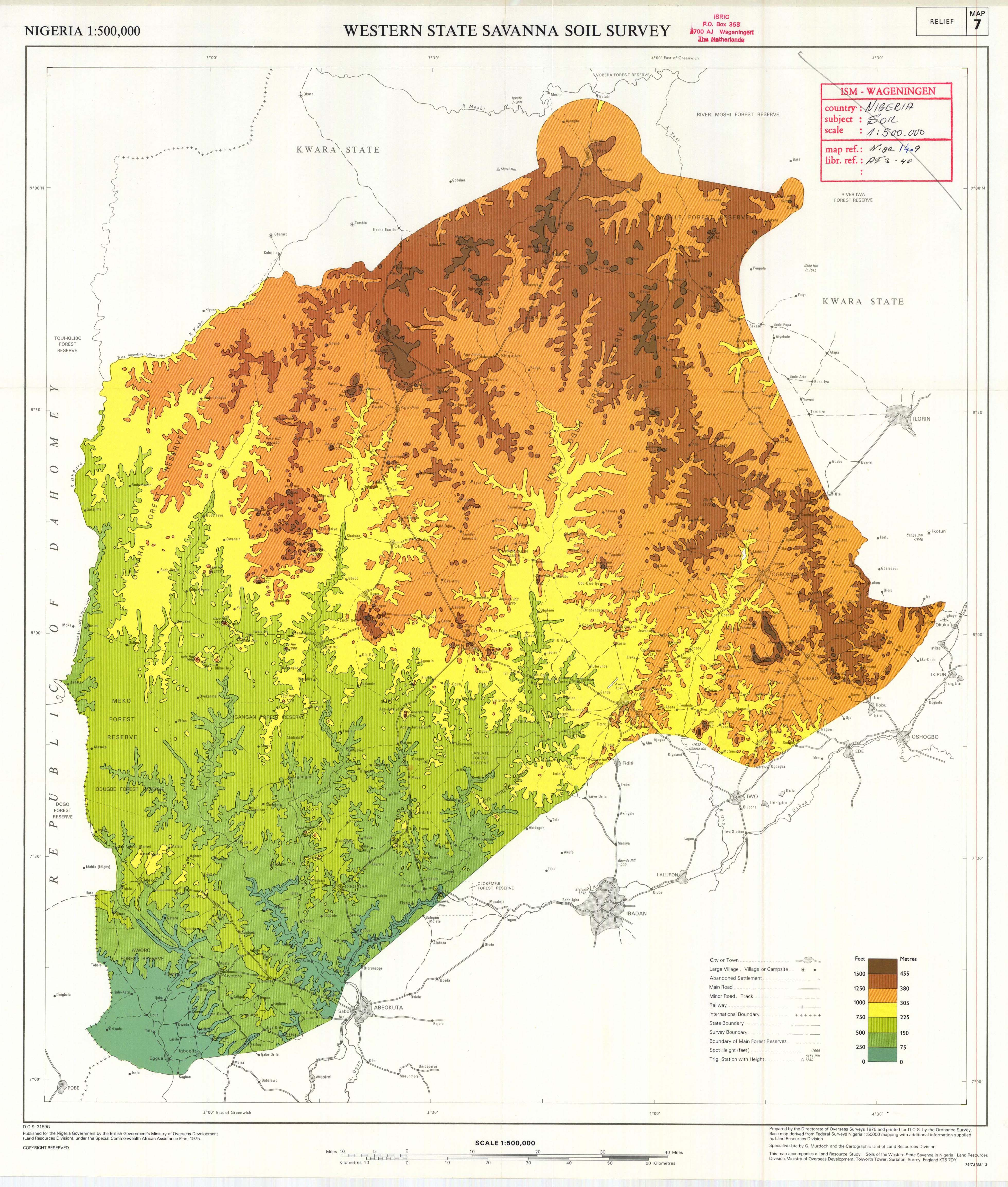 The soil maps of africa display maps title western state savanna soil survey nigeria relief map ccuart Choice Image