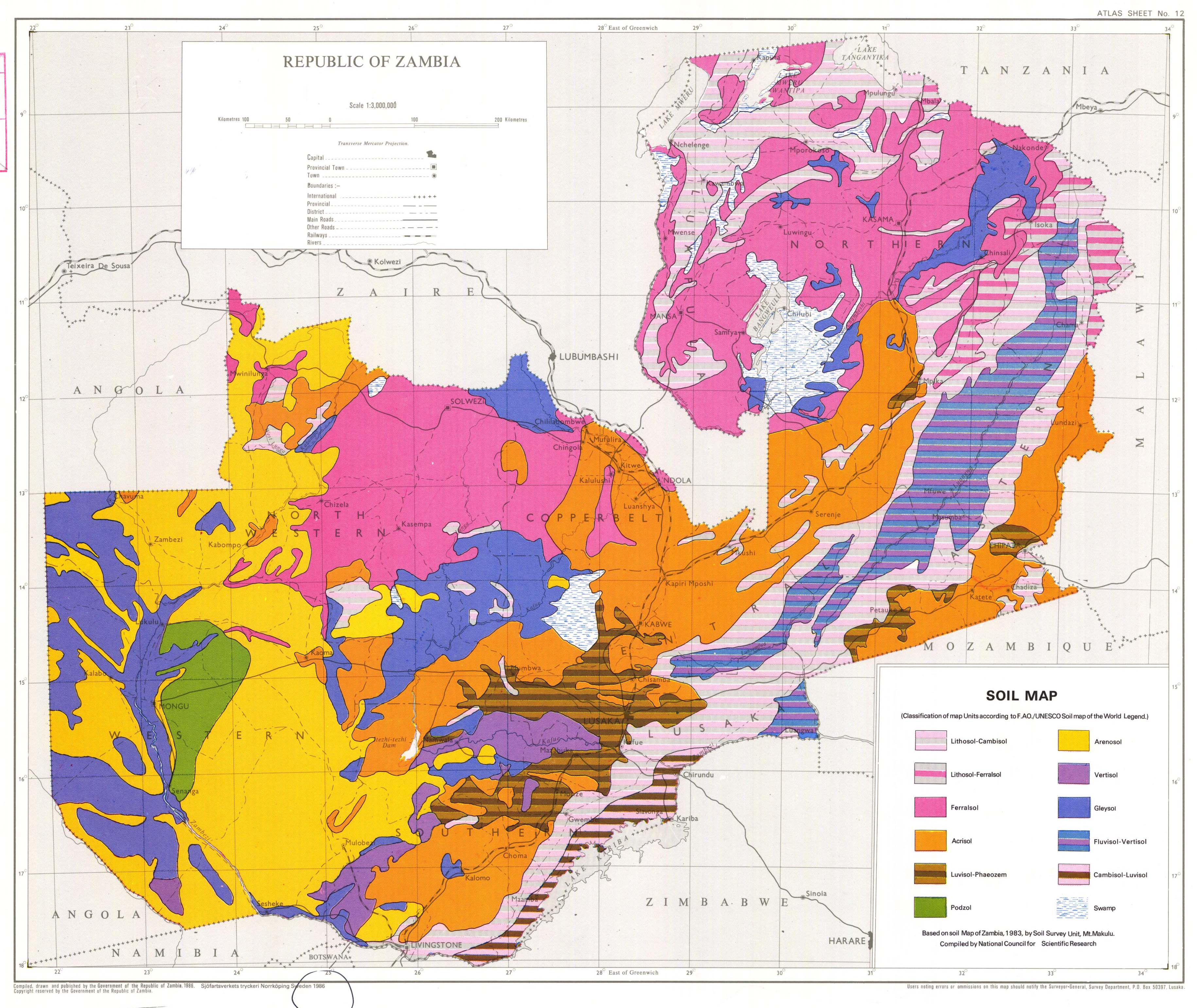 The soil maps of Africa - Display Maps Zambia Land Use Map on the jungle in africa on map, africa climate map, atlas mountains africa physical map,