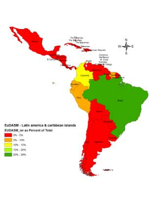 The soil maps of latin america caribbean islands introduction to mapping the distribution intensity of soil maps map number in latin america caribbean islands gumiabroncs Images