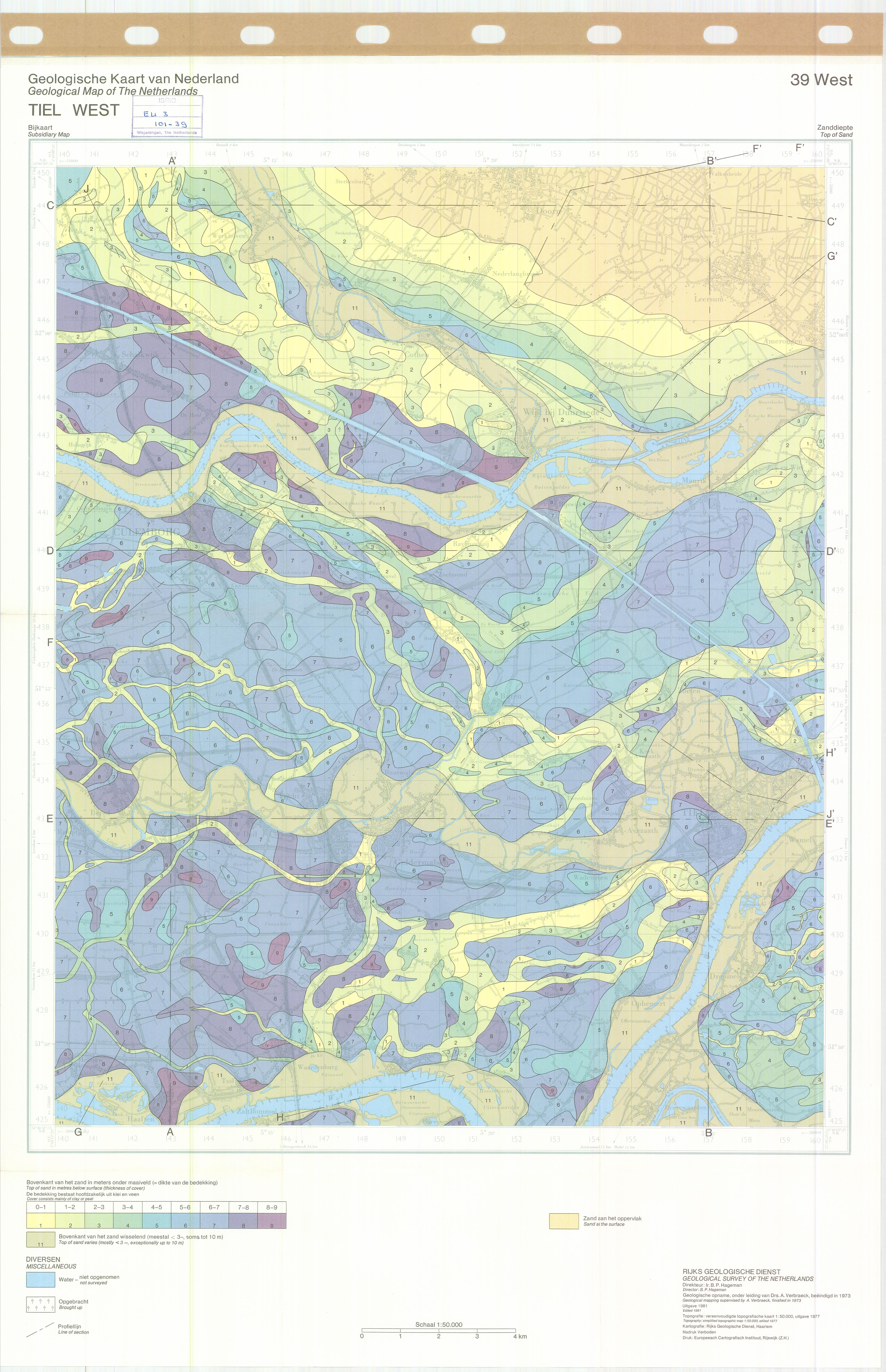 Worksheet. Geological map of the Netherlands  ESDAC  European Commission