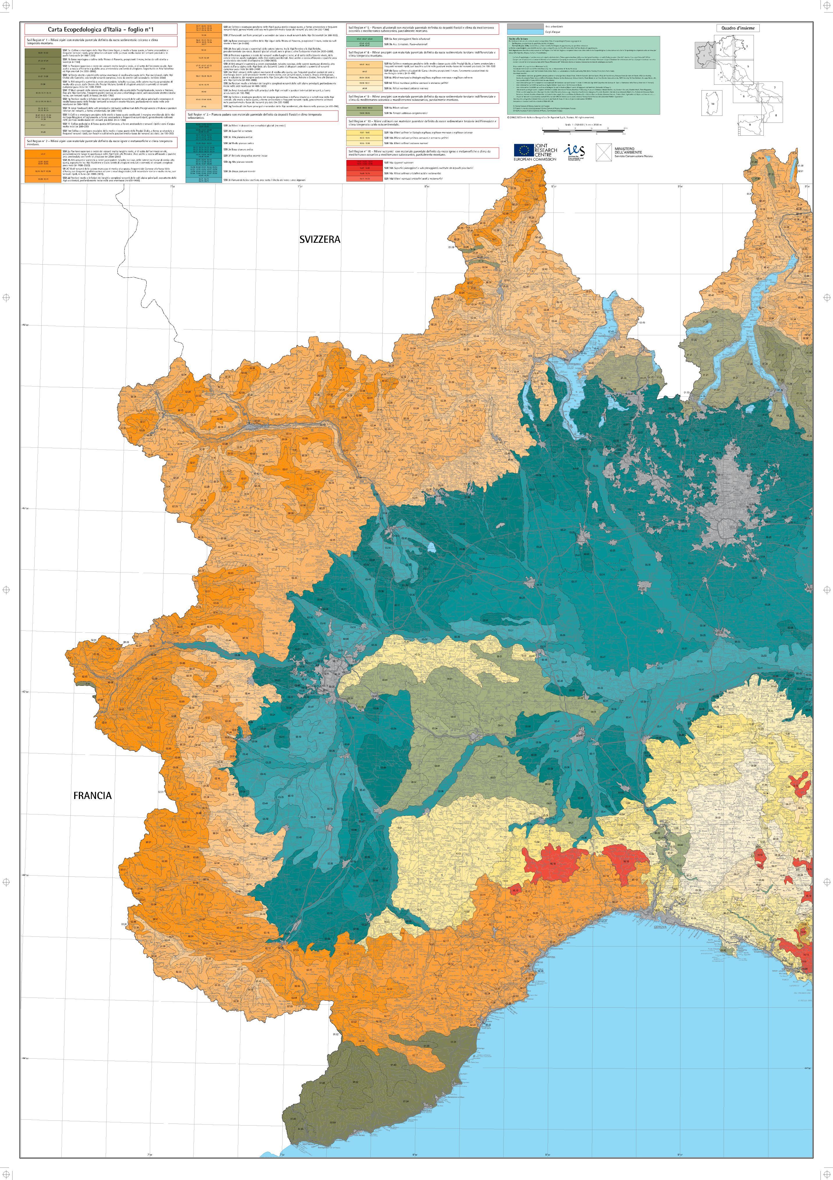 Maps Of Carta Ecopedologica 1 250 0000