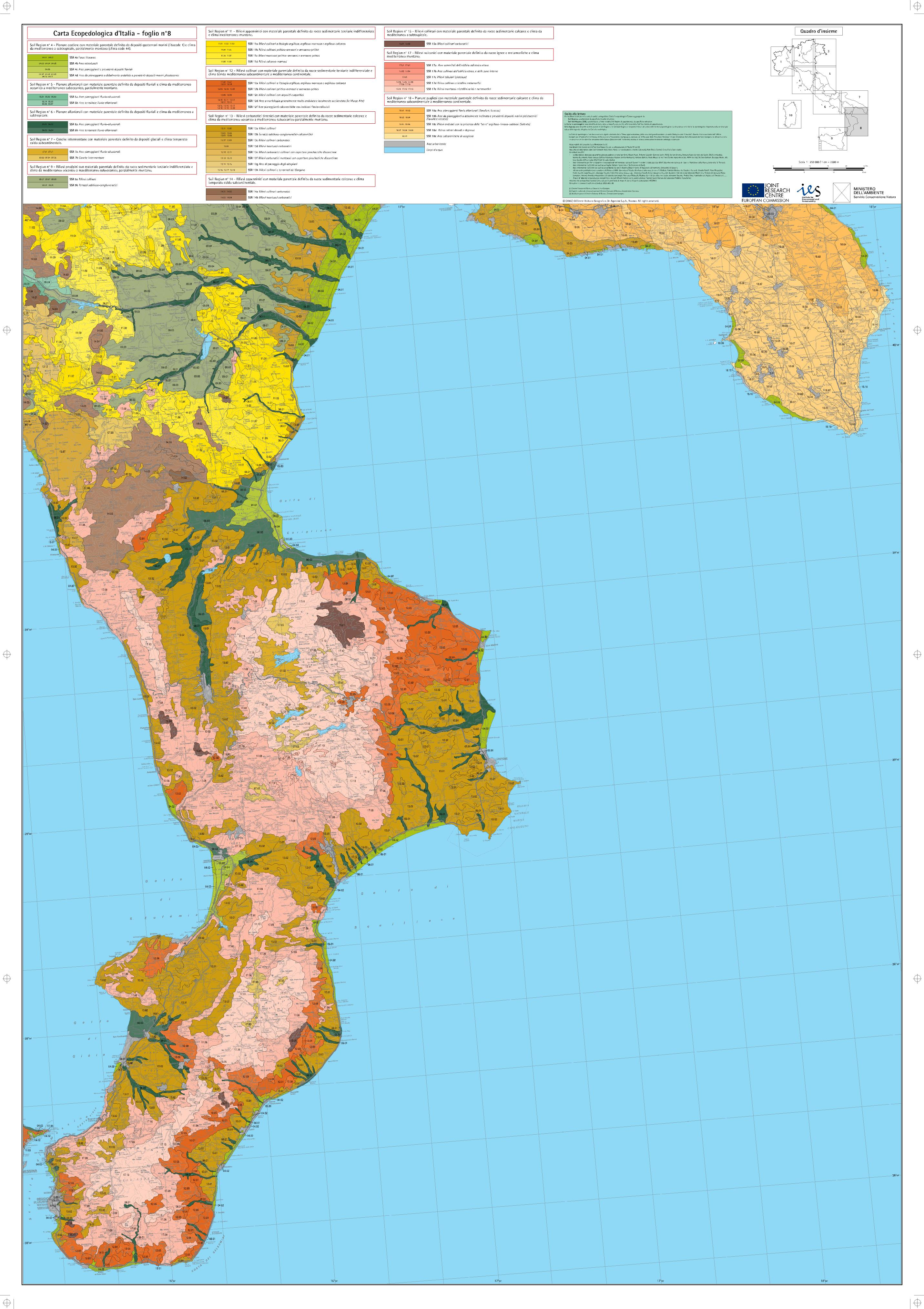 Map Of North West Italy.Maps Of Carta Ecopedologica 1 250 0000