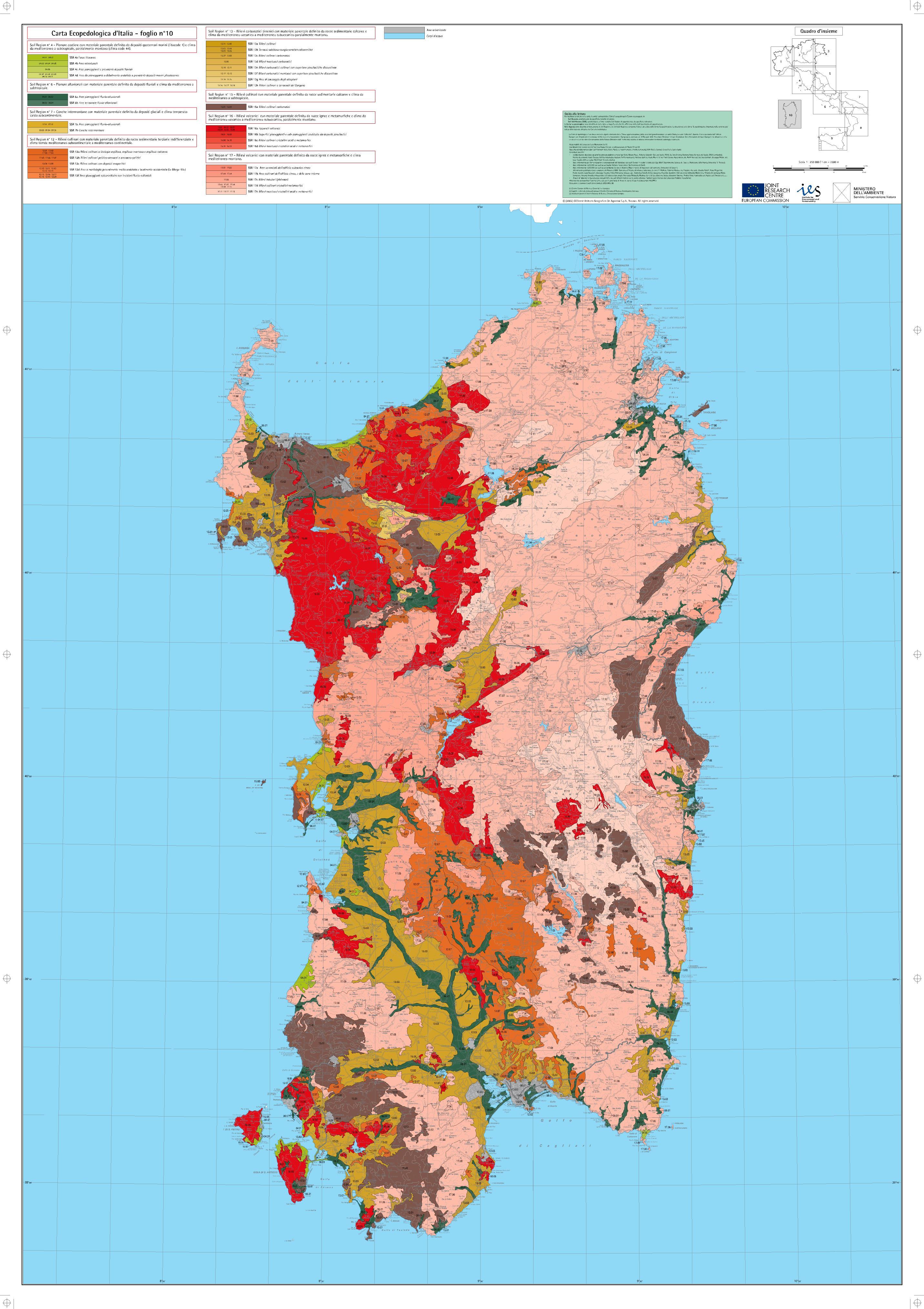 Mappa Sardegna 1954.Sardegna Agricoltura Assistenza Tecnica Servizi Cartografia
