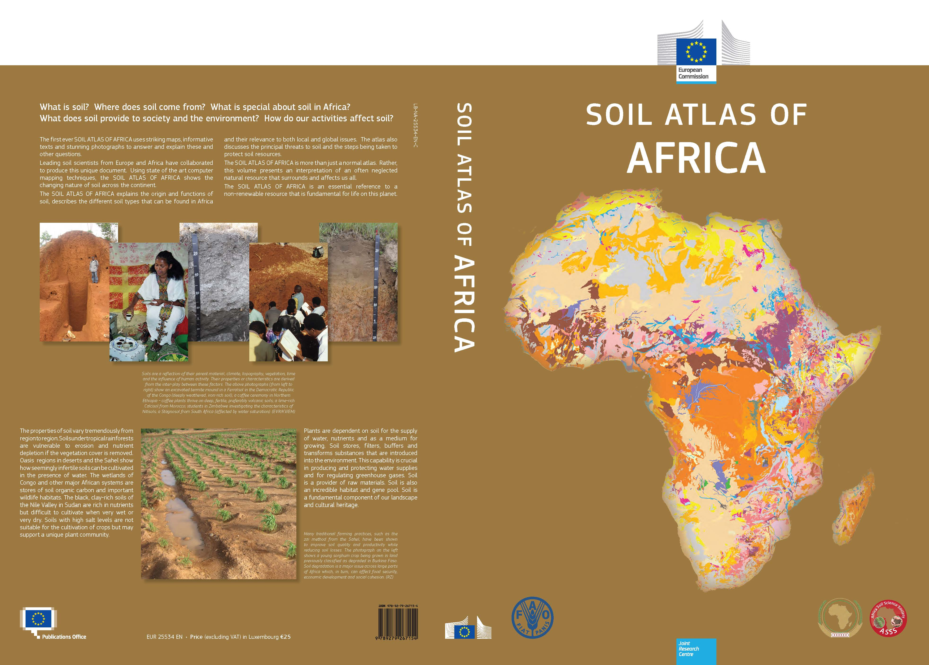 Soil atlas of africa and its associated soil map data for Soil as a resource introduction