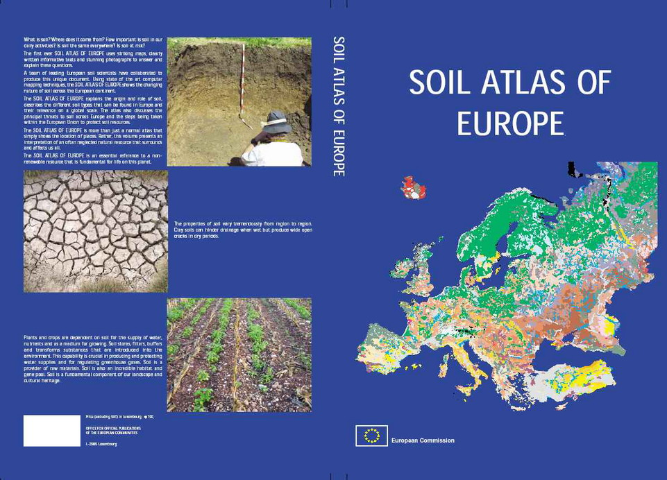 Soil atlas of europe esdac european commission for Information about different types of soil