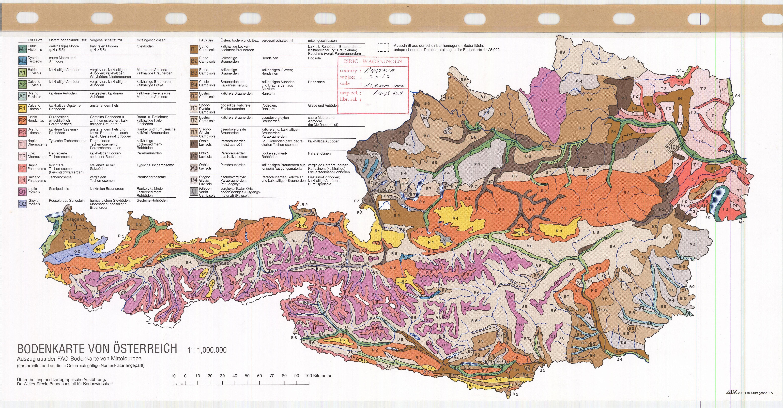 Bodenkarte von Osterreich. (Soil Map of Austria) - ESDAC - European ...