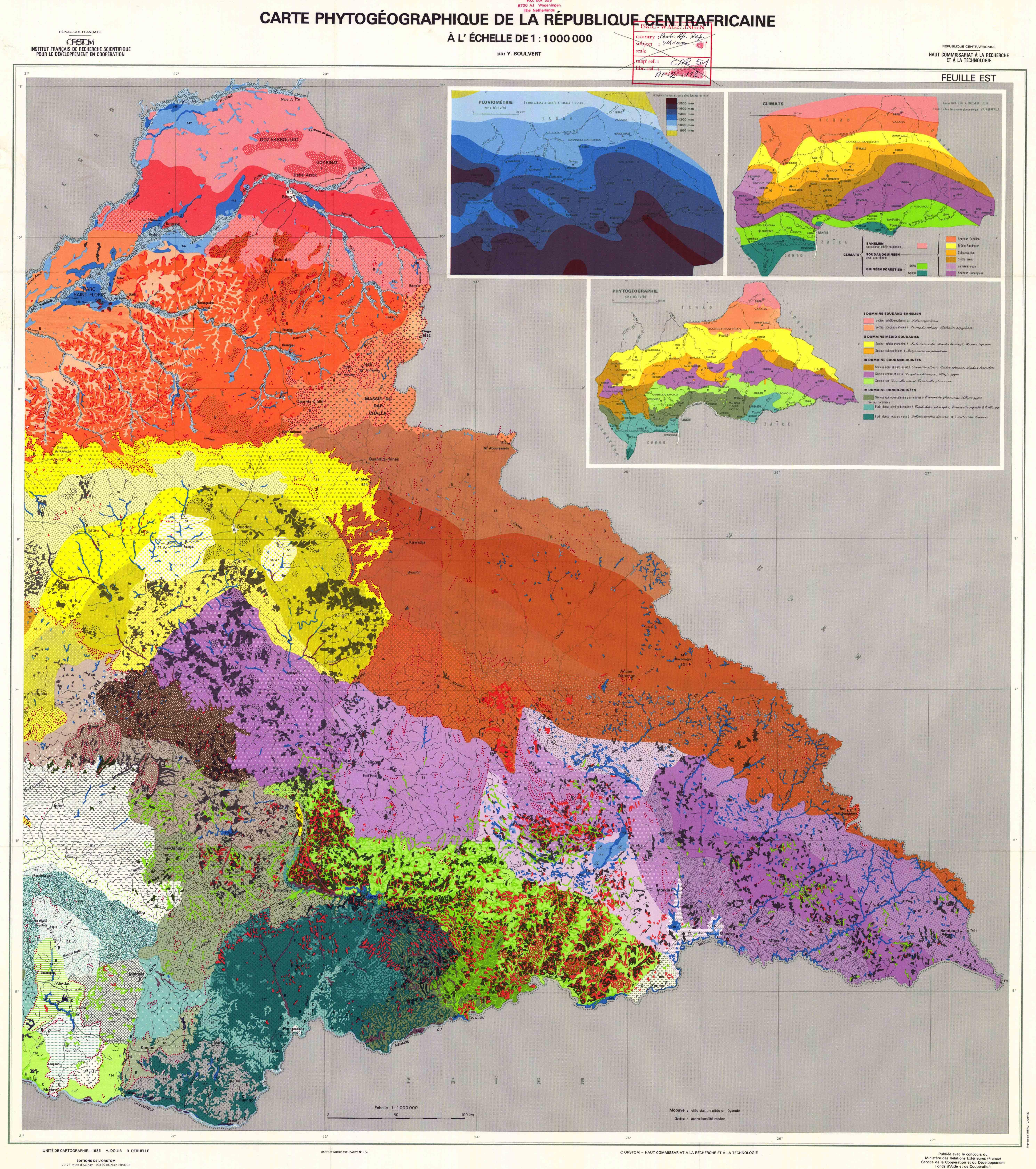 Carte Pdologique de la Rpublique Centrafricaine Bossangoa Ouham