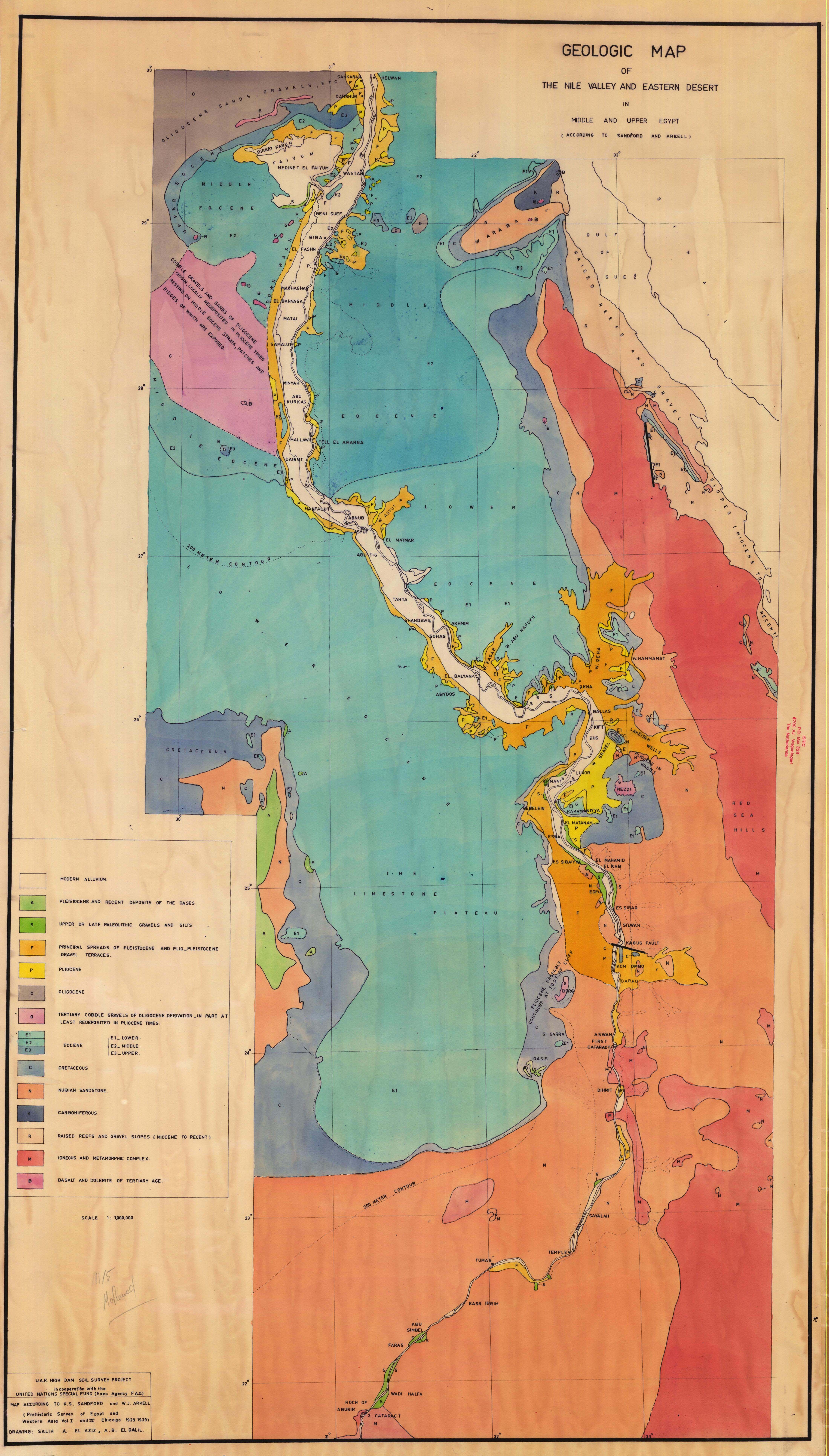 Geologic Map Of The Nile Valley And Eastern Desert In