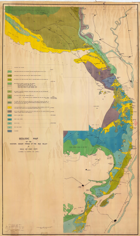 geologic map of the western desert fringe of the nile
