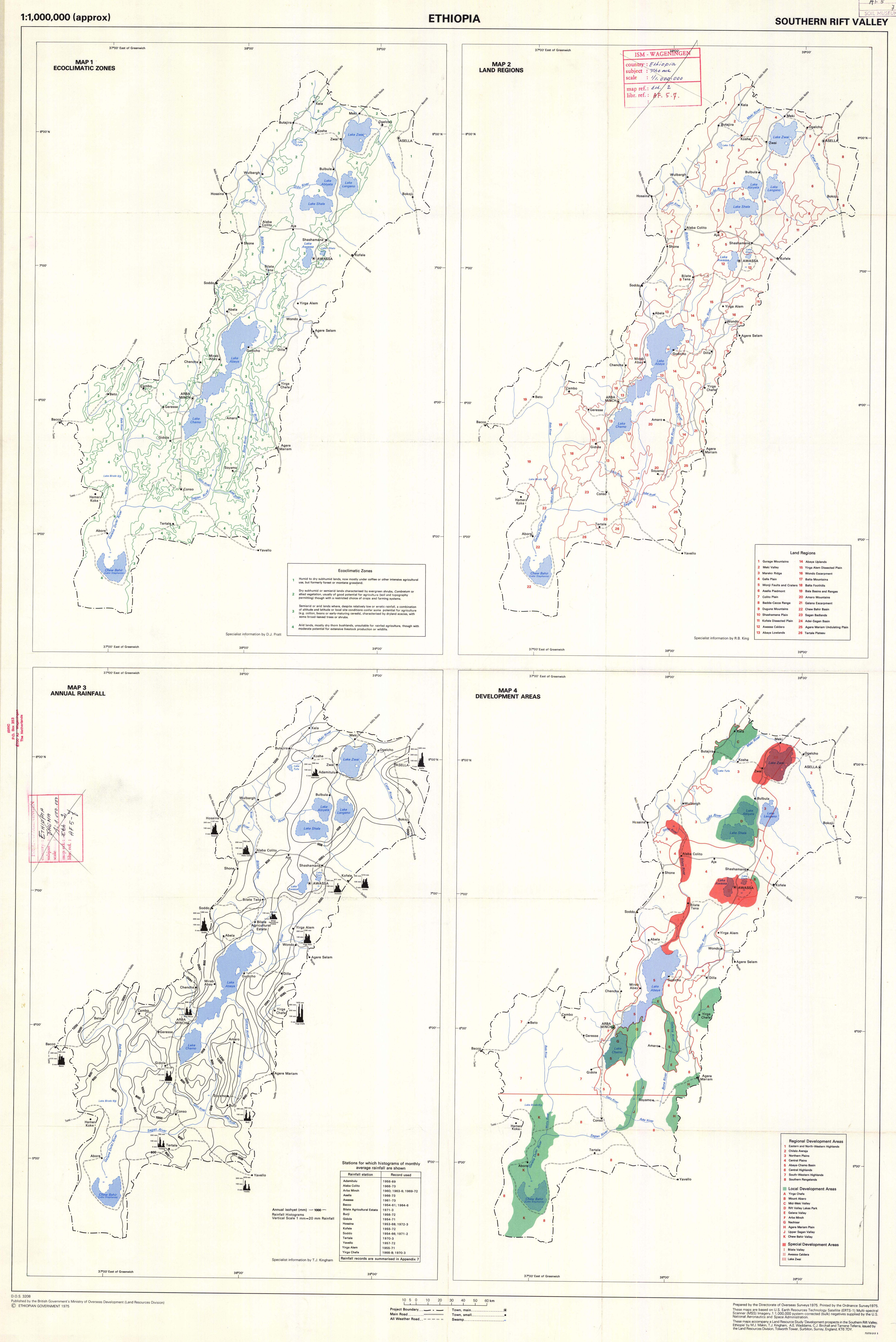 Ethiopia  Southern Rift Valley  Map 1  Eco-Climatic Zones