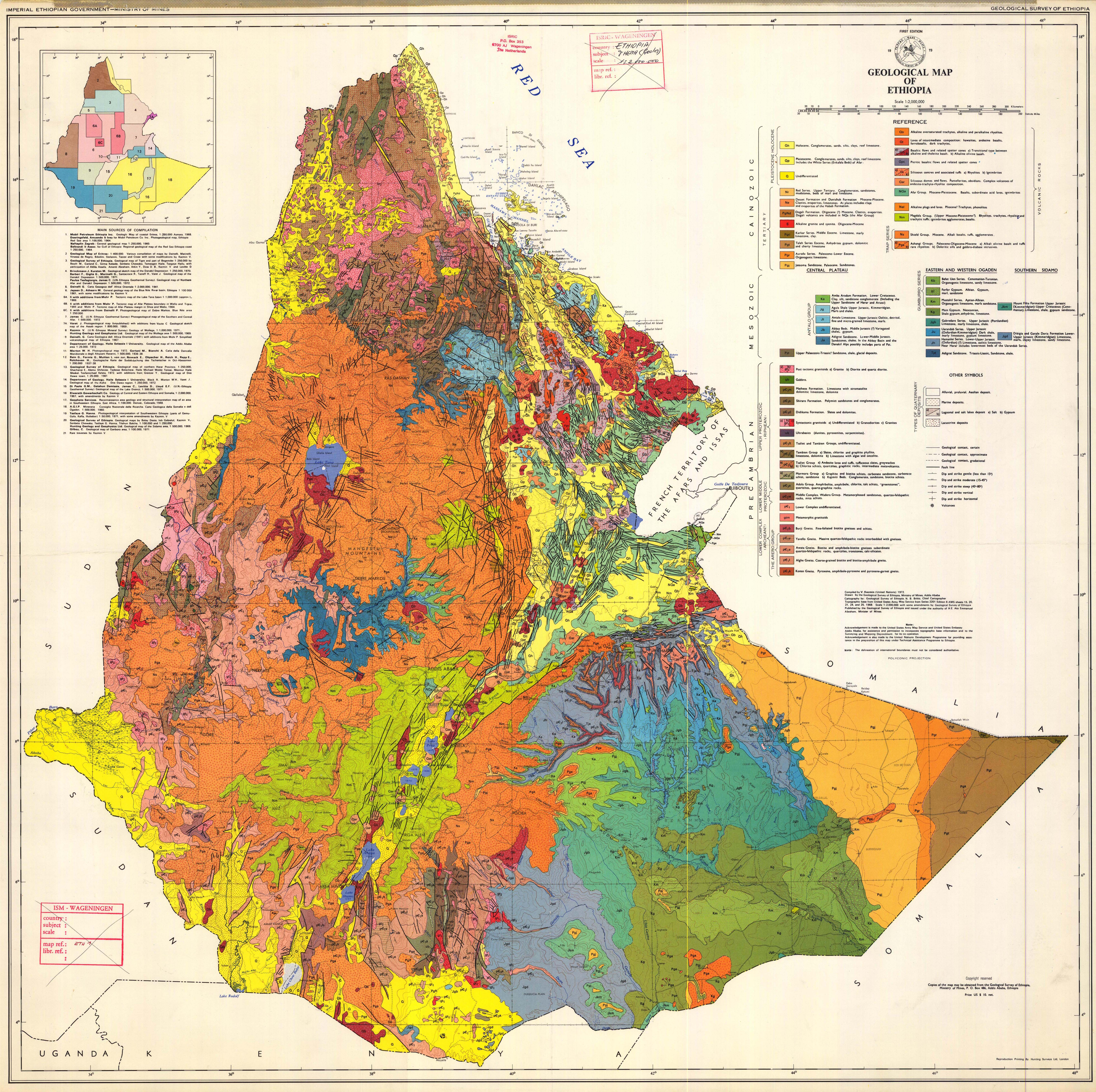 Geological map of Ethiopia. - ESDAC - European Commission