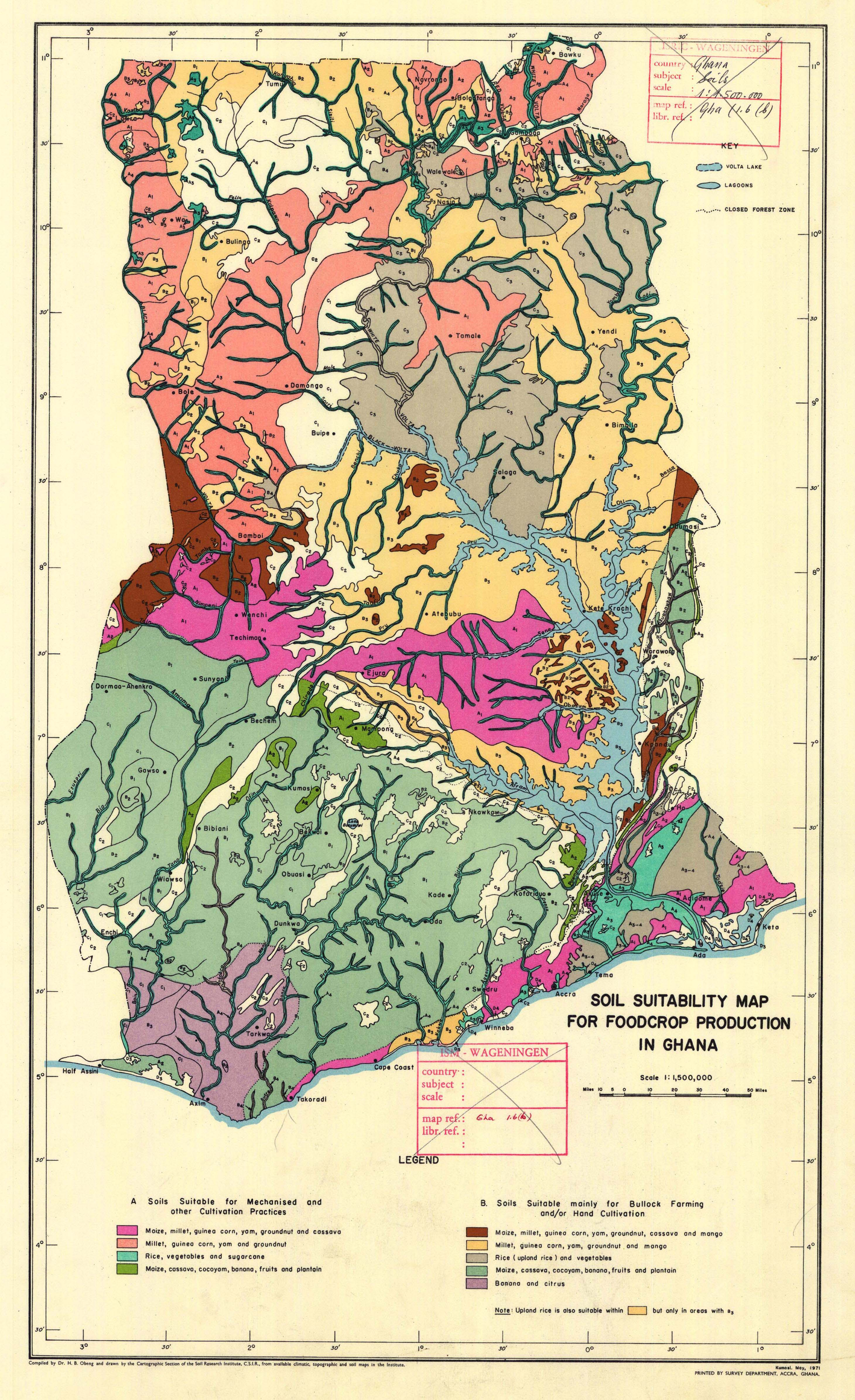 Soil Suitability Map for Foodcrop Production in Ghana. - ESDAC ...