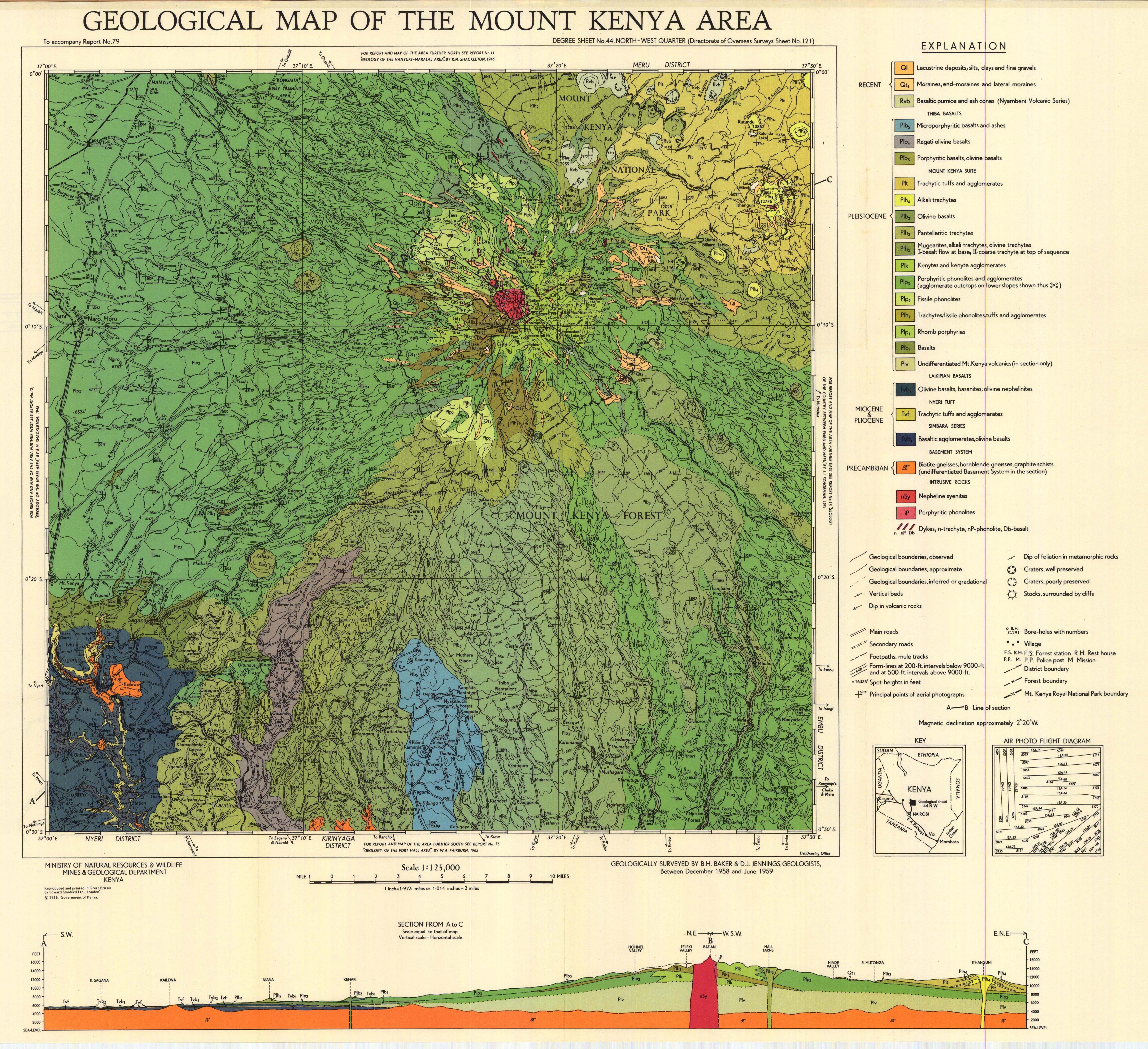 Geological map of the mount kenya area degree sheet no 44 geological map of the mount kenya area degree sheet no 44 north west quarter directorate of overseas surveys sheet no 121 gumiabroncs Images
