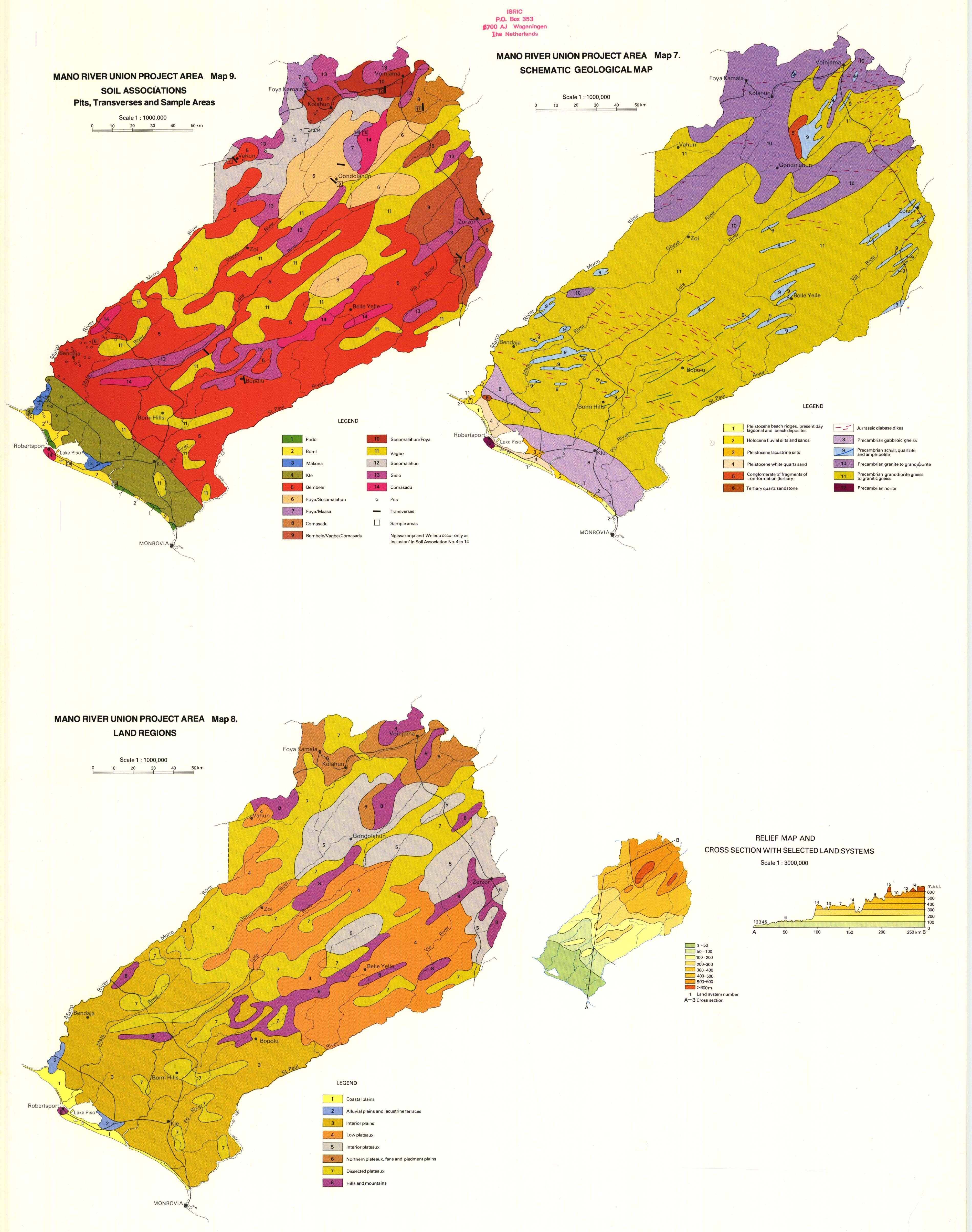 National Soil Maps Eudasm Esdac European Commission Block Diagram Hpdeskjet300400 Schematic Geological Map 8 Land Regions 9 Associations Pits Transverses And Sample Areas Relief Cross Section With Selected