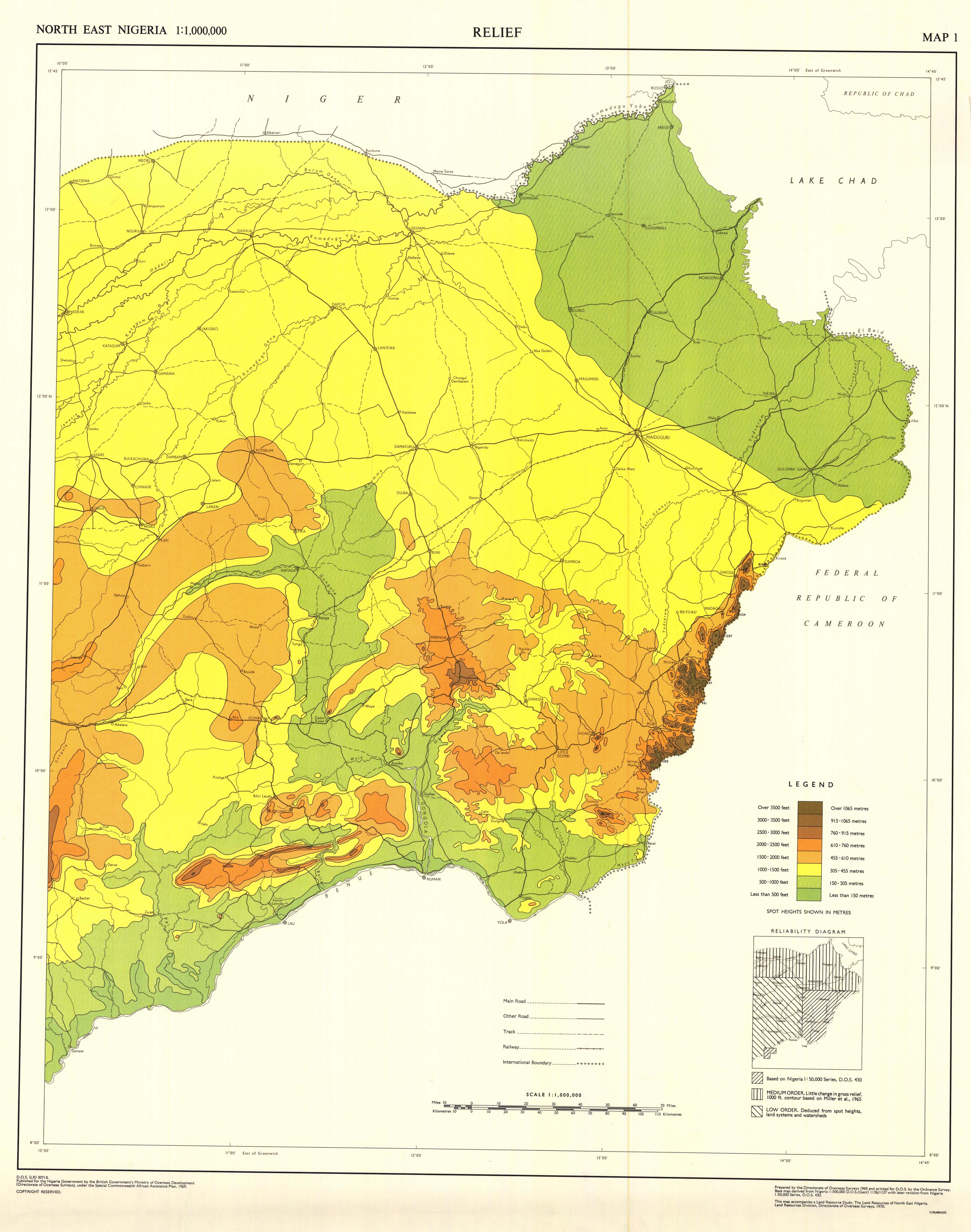 North east nigeria relief map 1 esdac european commission download gumiabroncs Choice Image