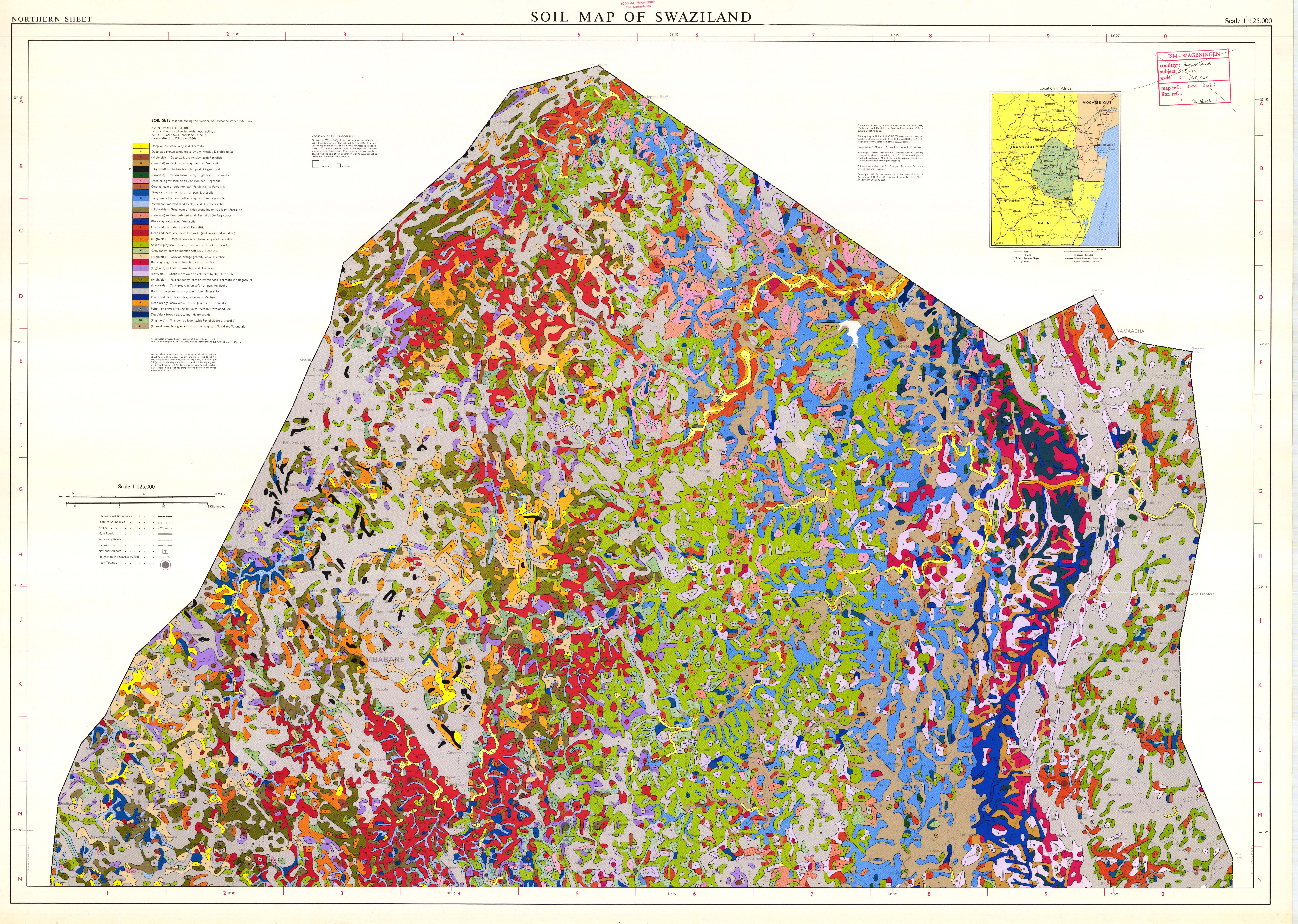 soil map of swaziland  northern sheet  - esdac