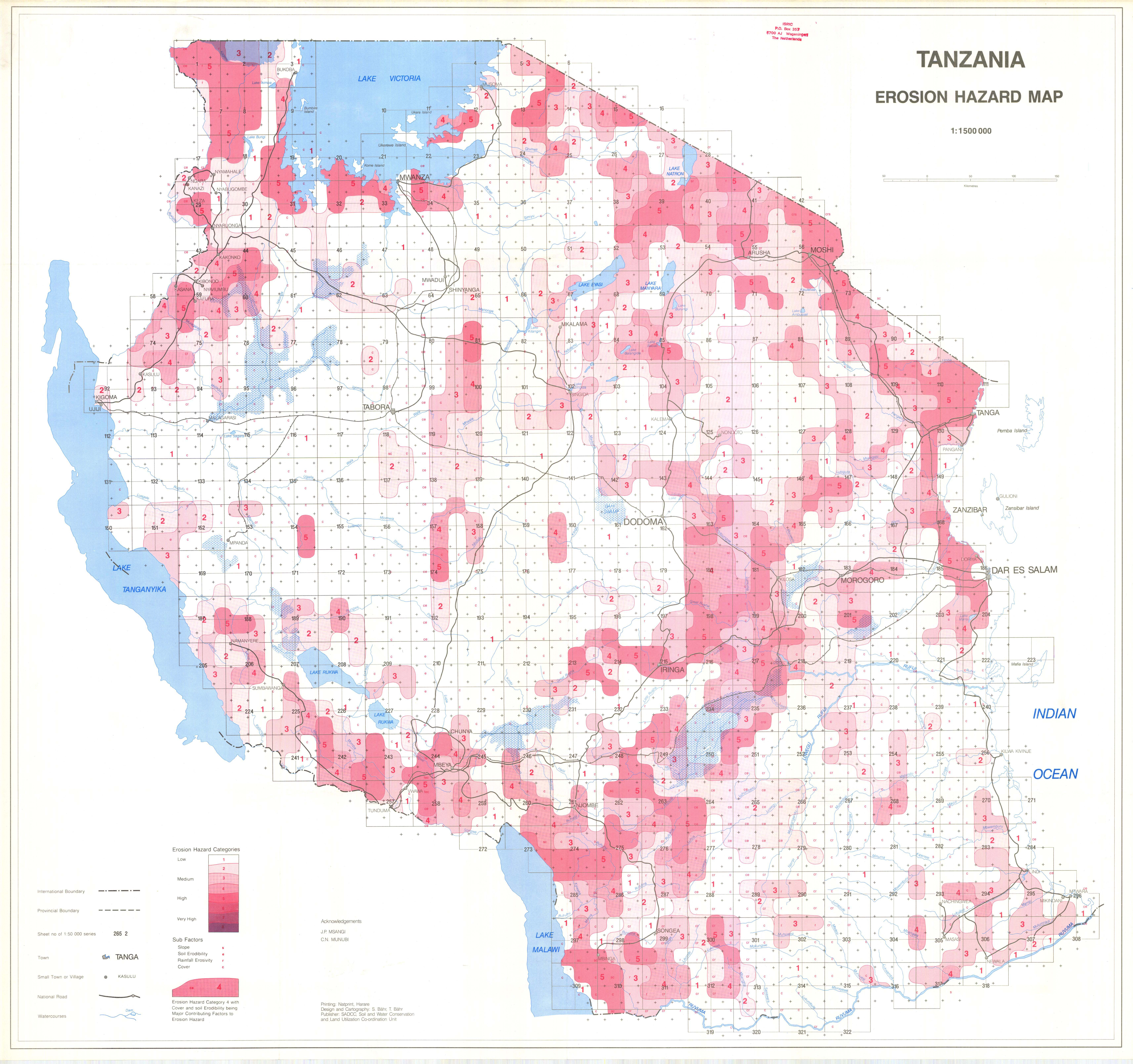 Tanzania  Erosion Hazard Map  - ESDAC - European Commission
