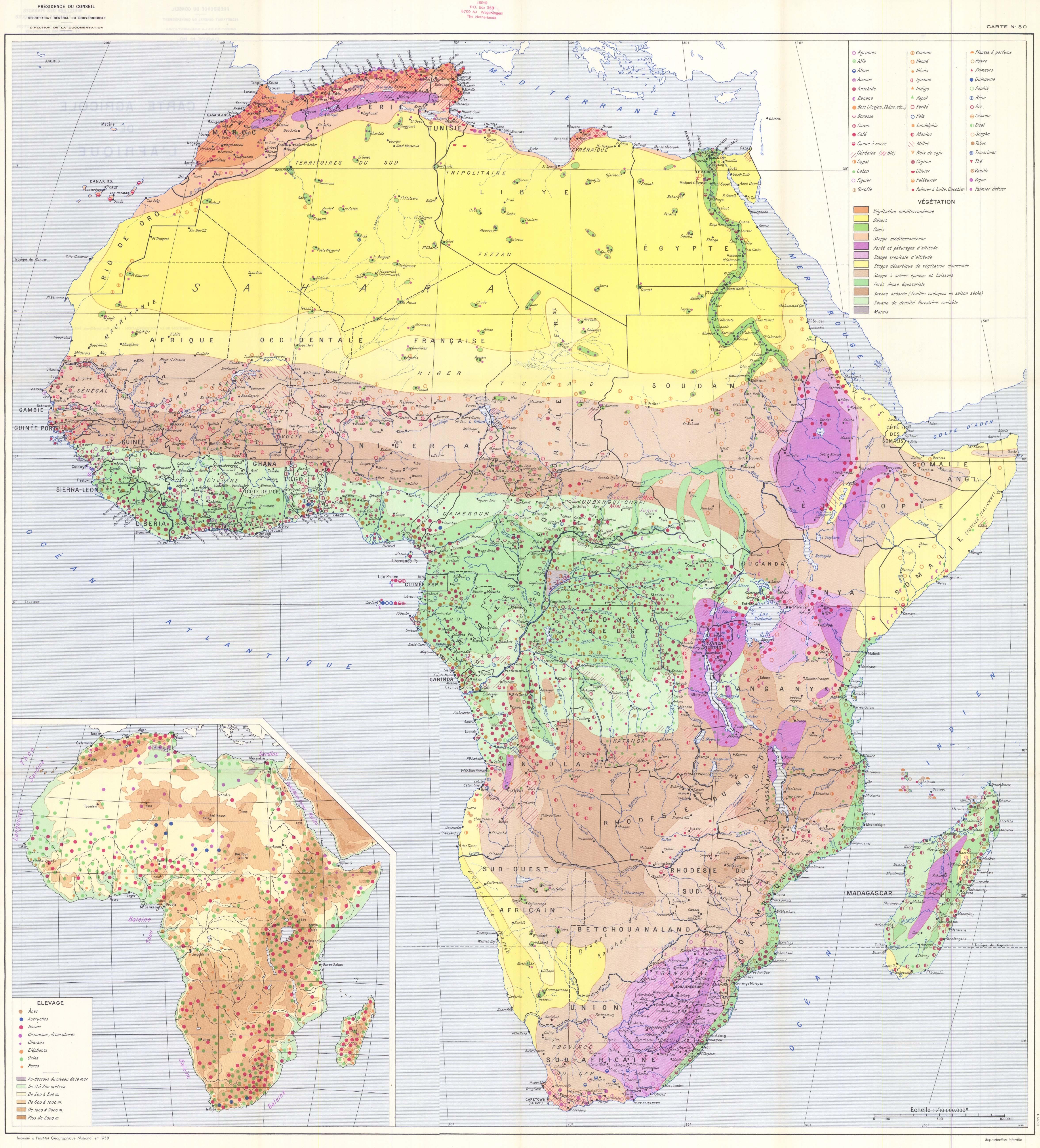 Carte Agricole De L Afrique Carte No 80 Esdac European