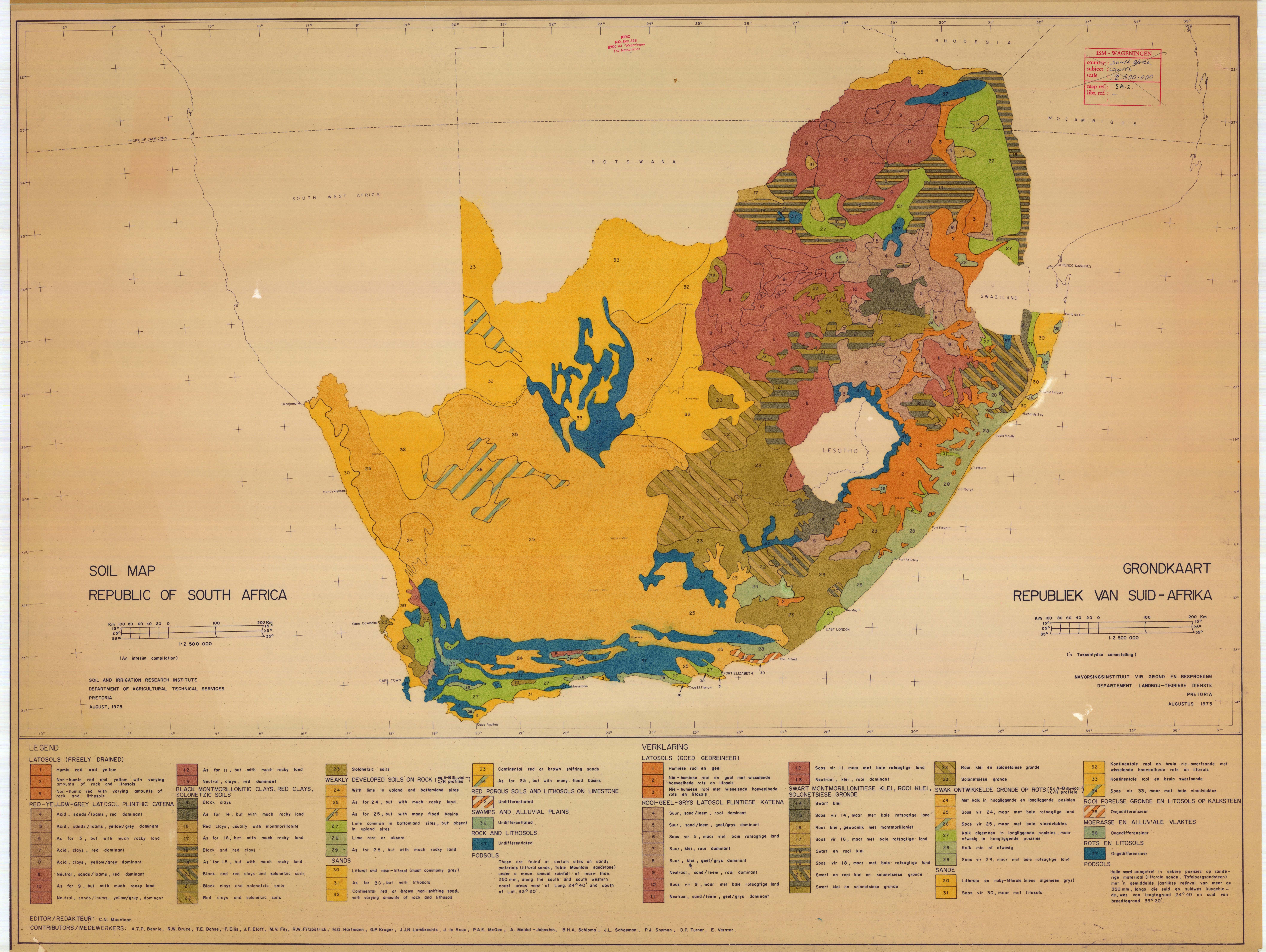 grondkaart  republiek van suid
