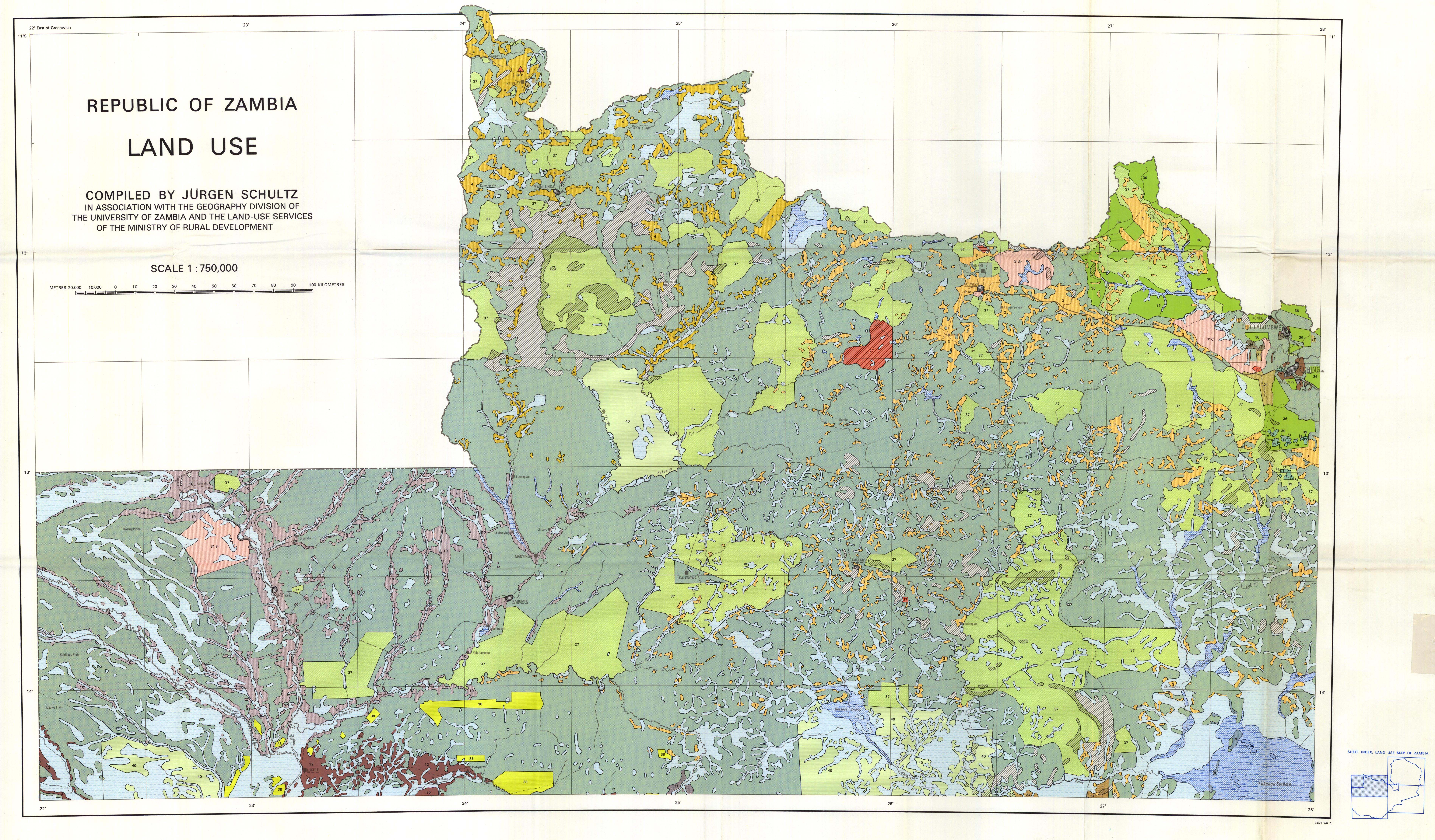 Republic of Zambia. Land Use. - ESDAC - European Commission on the jungle in africa on map, africa climate map, atlas mountains africa physical map,