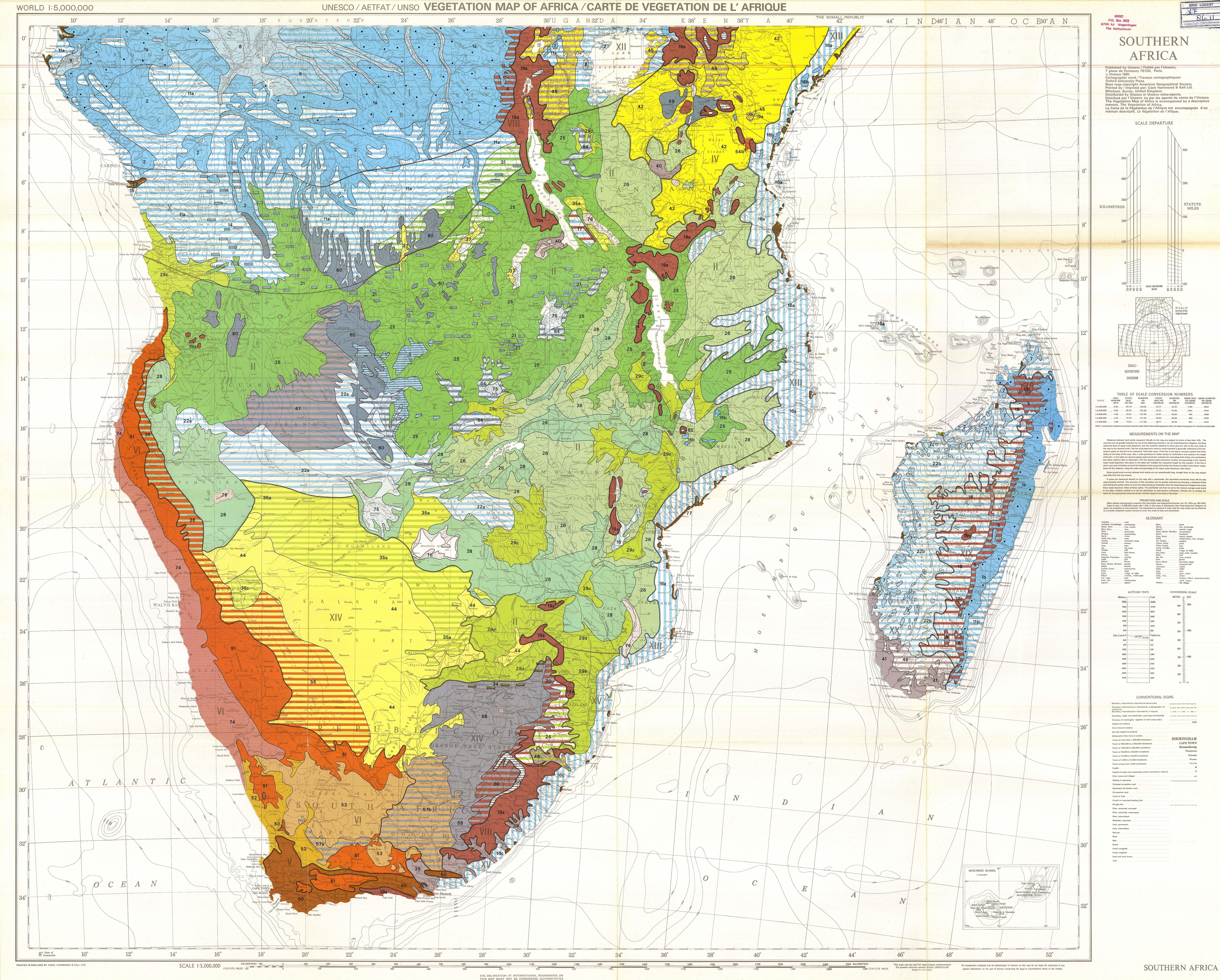 Vegetation map of africa southern africa carte de vegetation de l download gumiabroncs Image collections