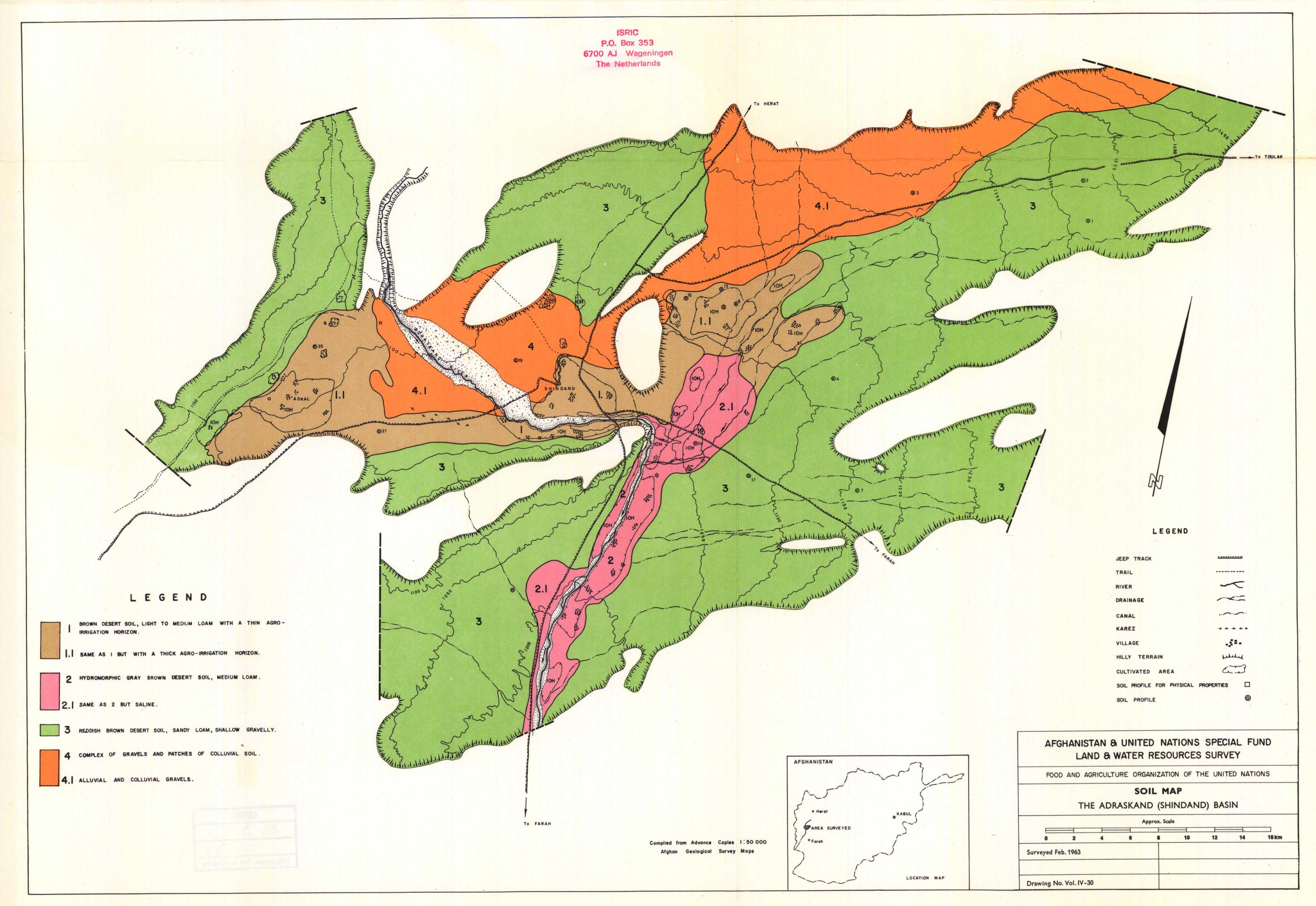 National soil maps eudasm esdac european commission soil map the adraskand shindand basin vol iv 30 gumiabroncs Choice Image