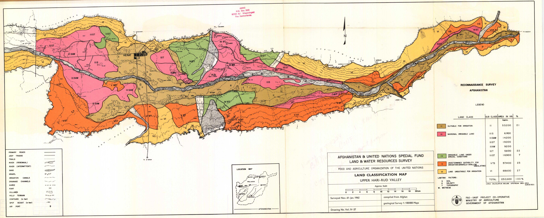 Map Of Upper Asia.Land Classification Map Upper Hari Rud Valley Vol Iv 37 Esdac
