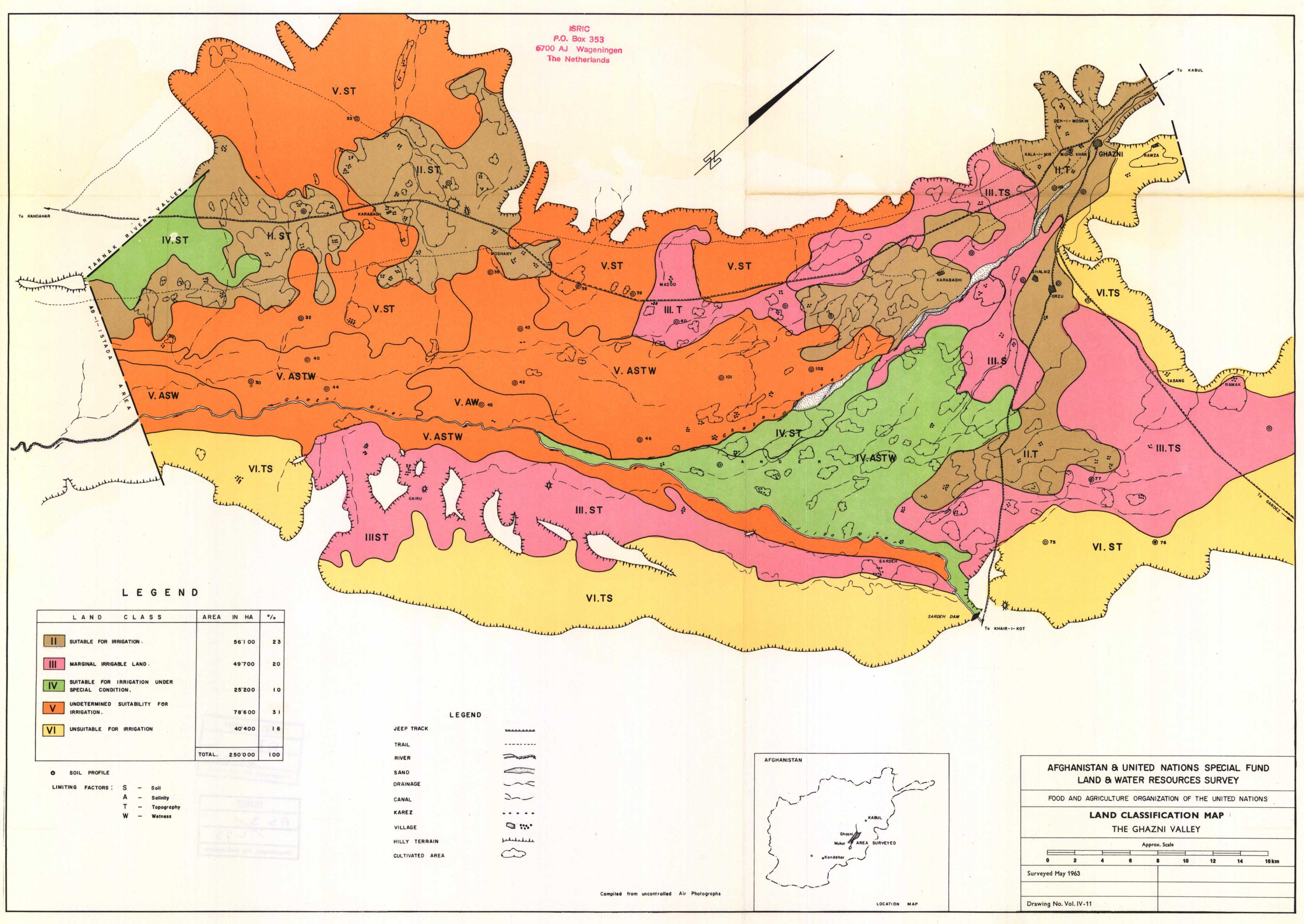 National soil maps eudasm esdac european commission land classification map the ghazni valley vol iv 11 gumiabroncs Gallery