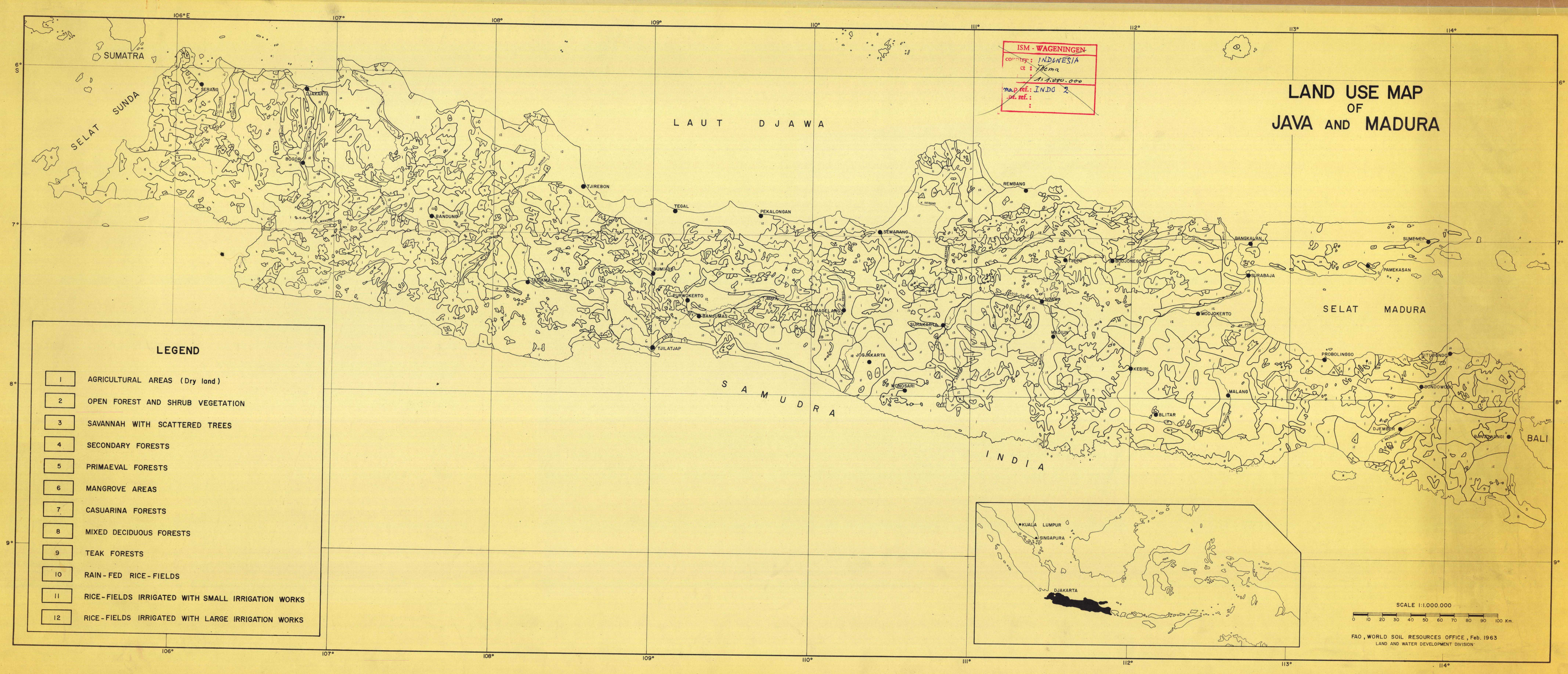 Land use map of java and madura esdac european commission download gumiabroncs Images