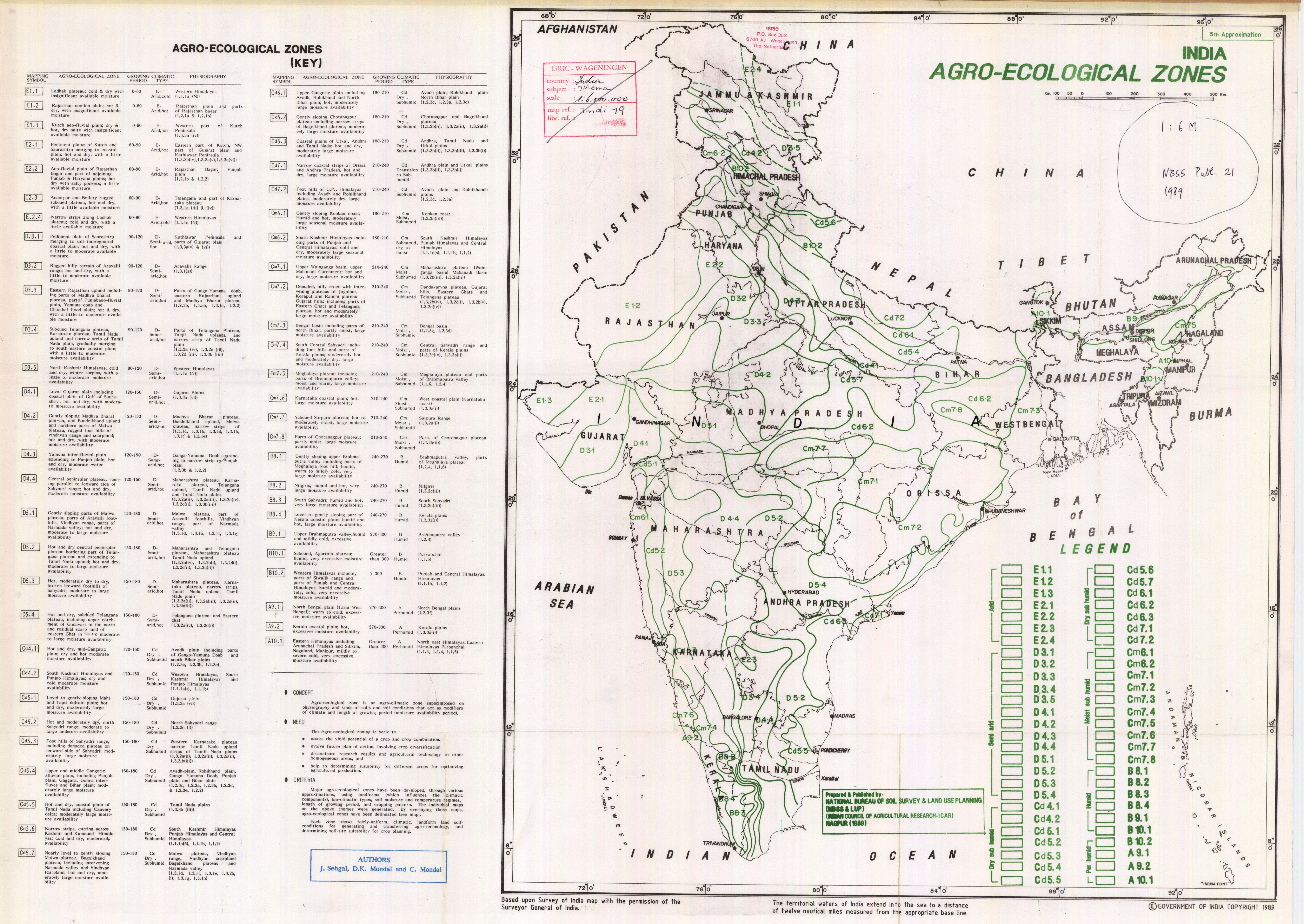 agro eco regions in india Focus was on farmers and agricultural labourers who han- dle pesticides in crops such as paddy, cotton, sugarcane, wheat, apple, pomegranate, mango, grapes and vegetables covering different agro-ecological zones in india primary data were collected from farmers, agricultural labourers, pesticide vendors and.