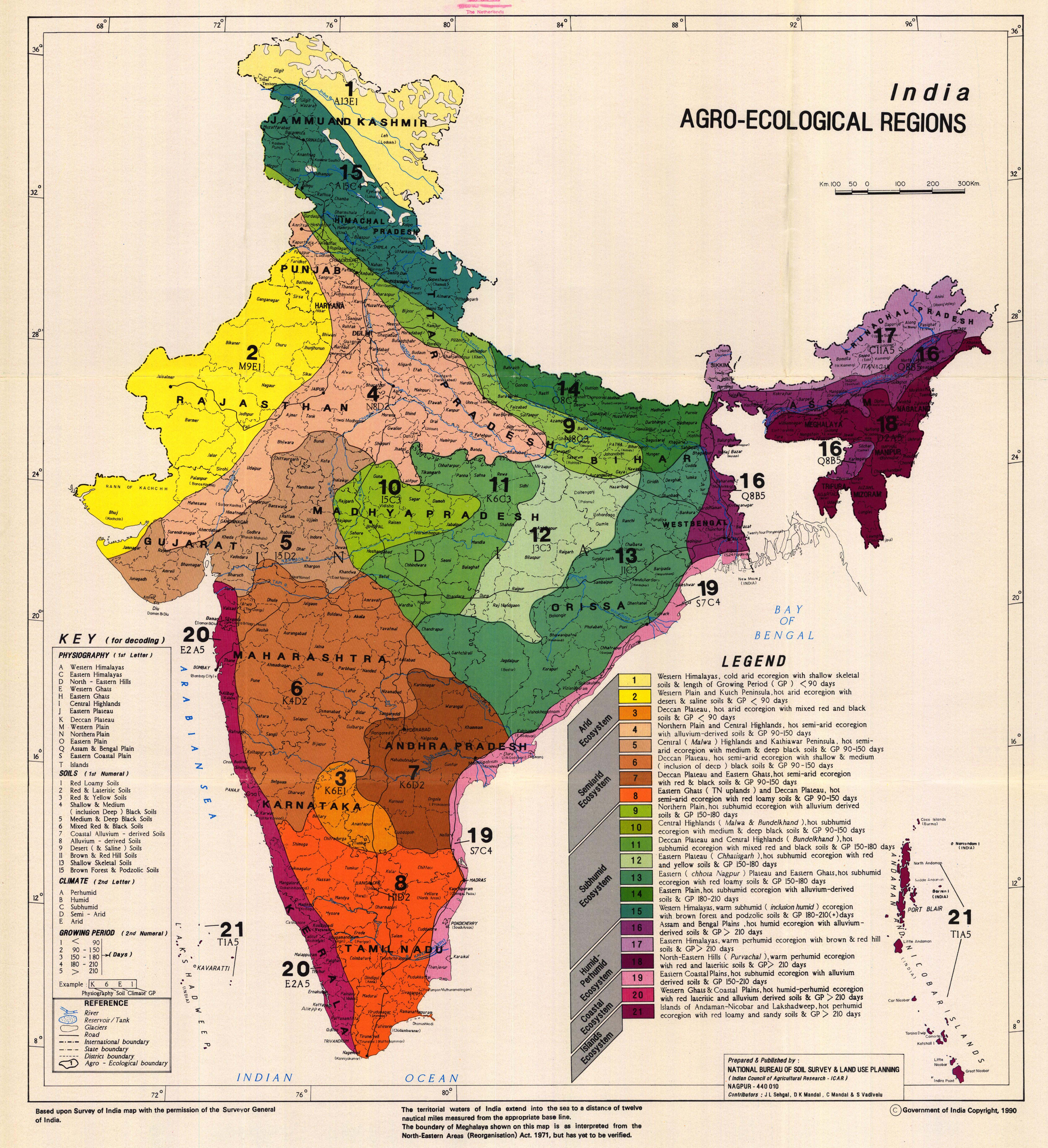 Geological Map Of India.National Soil Maps Eudasm Esdac European Commission