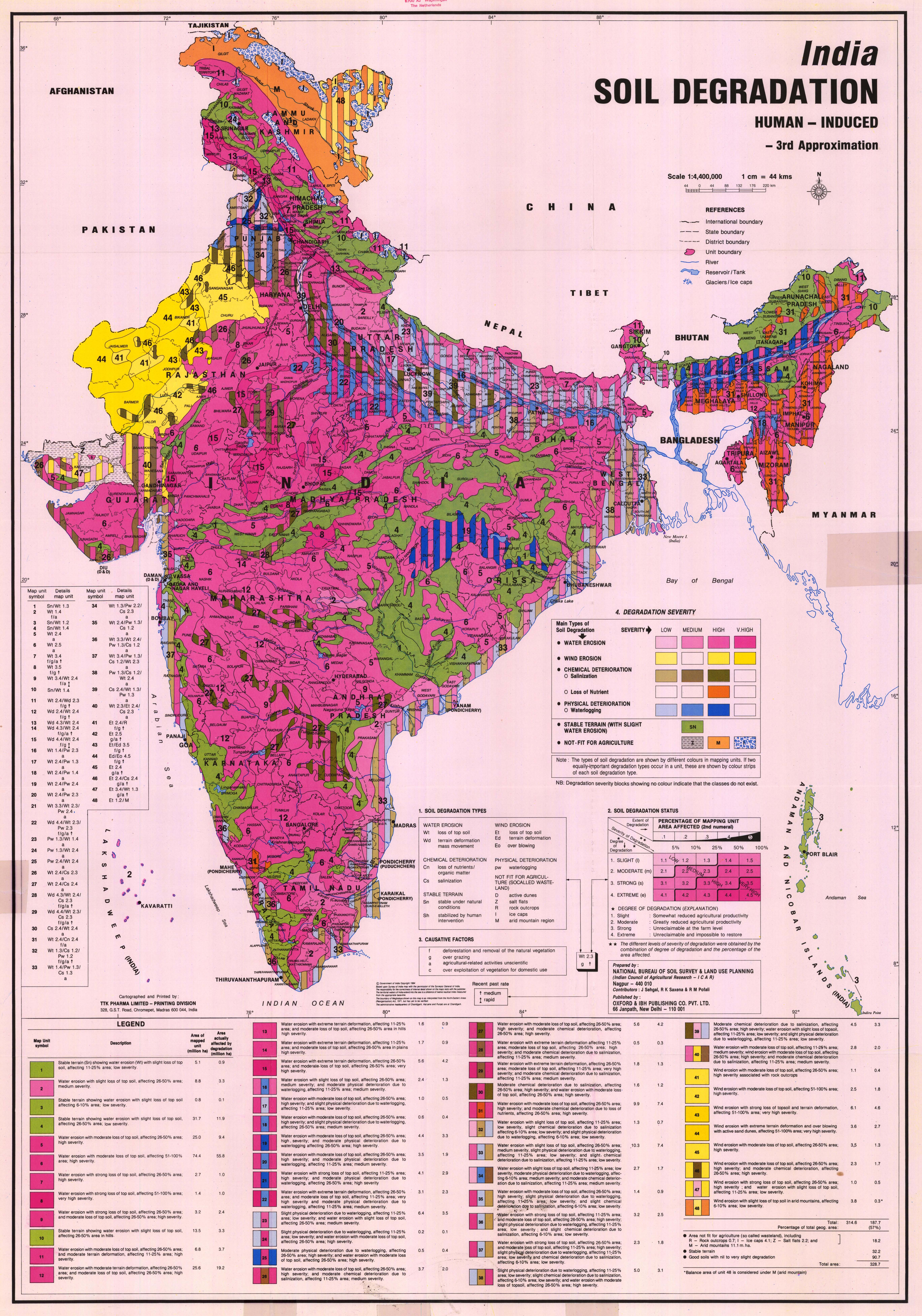 National soil maps eudasm esdac european commission for Soil in india