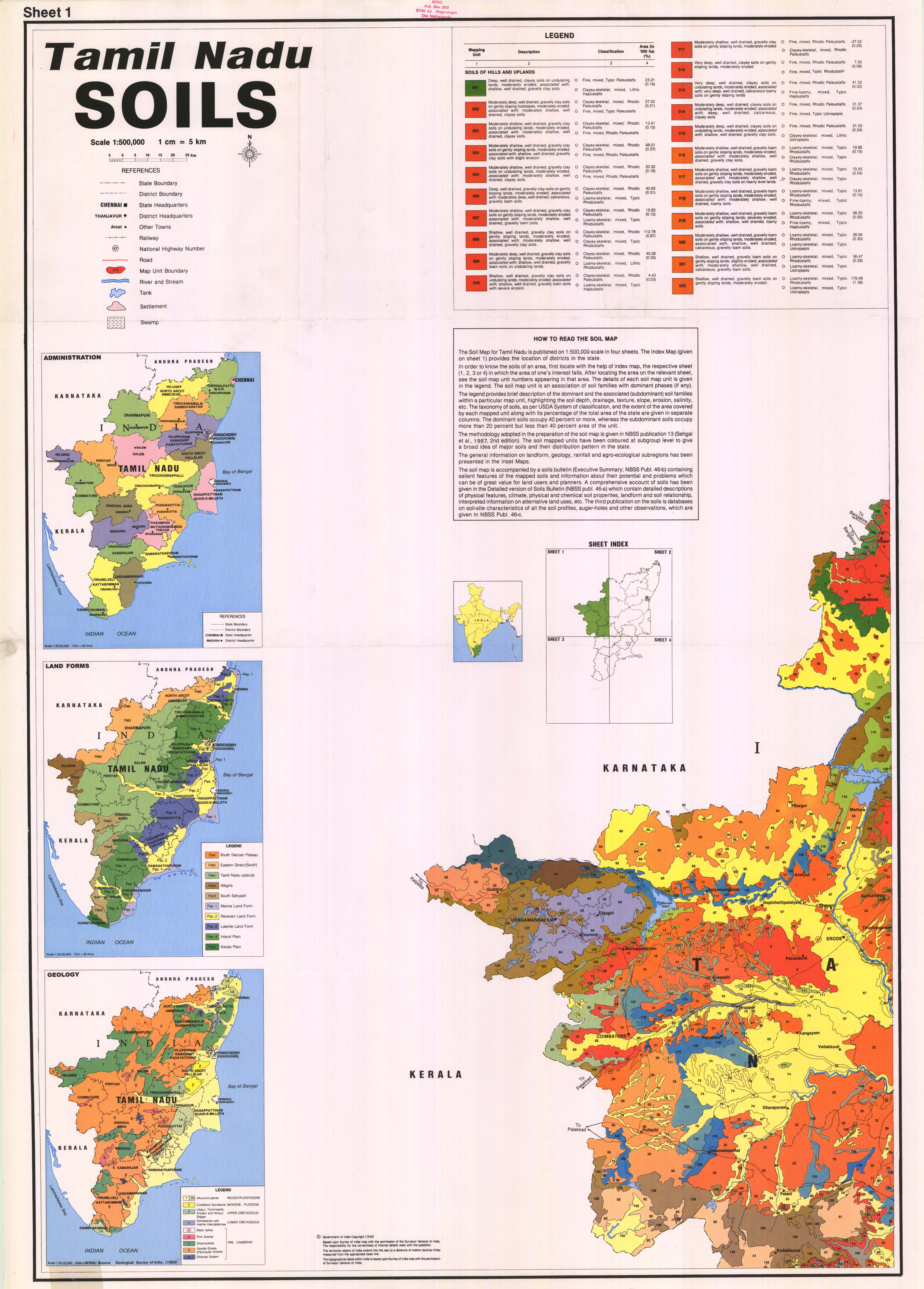 Tamil Nadu  Soils  Sheet 1  - ESDAC - European Commission