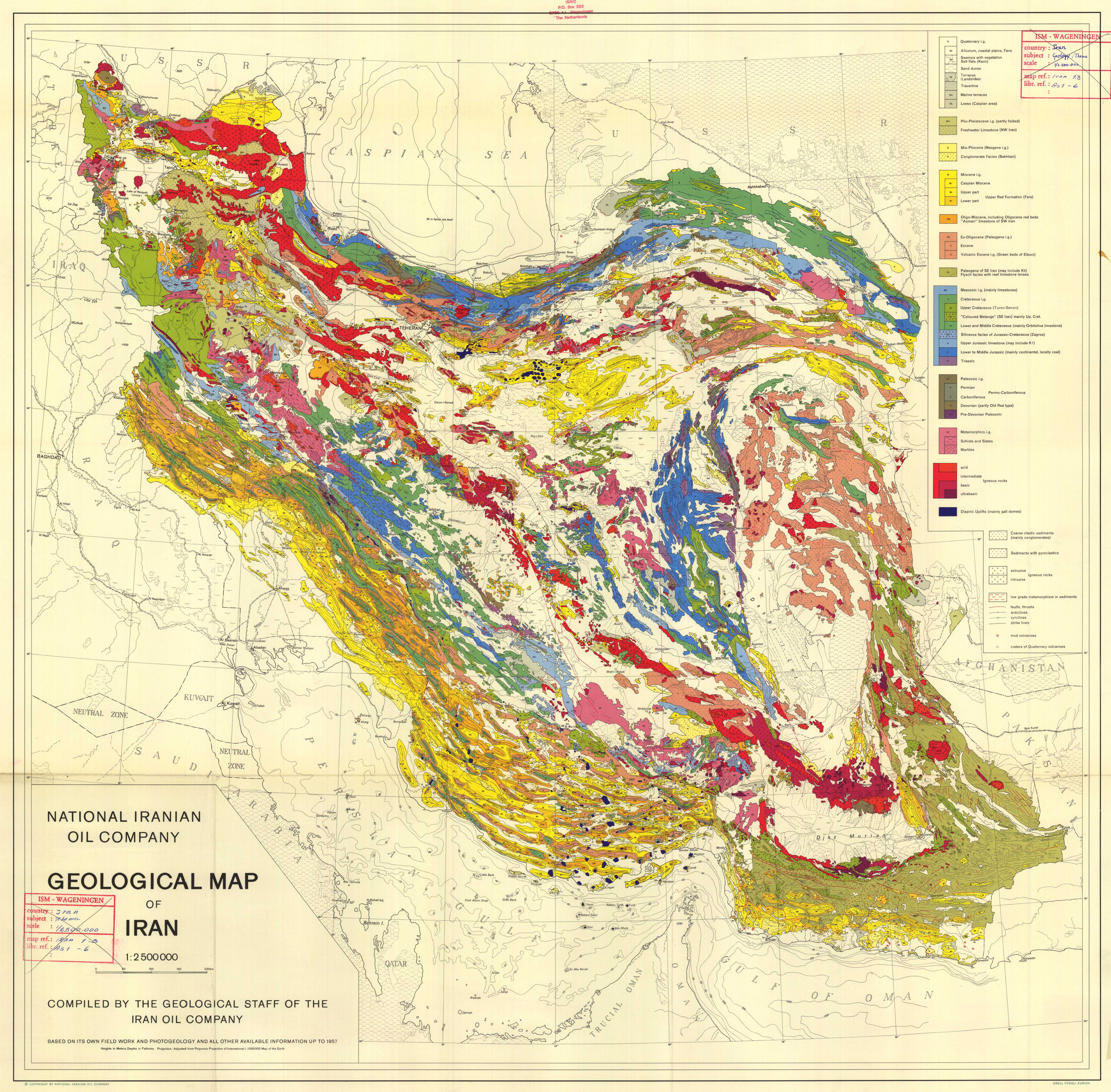 geological map of iran