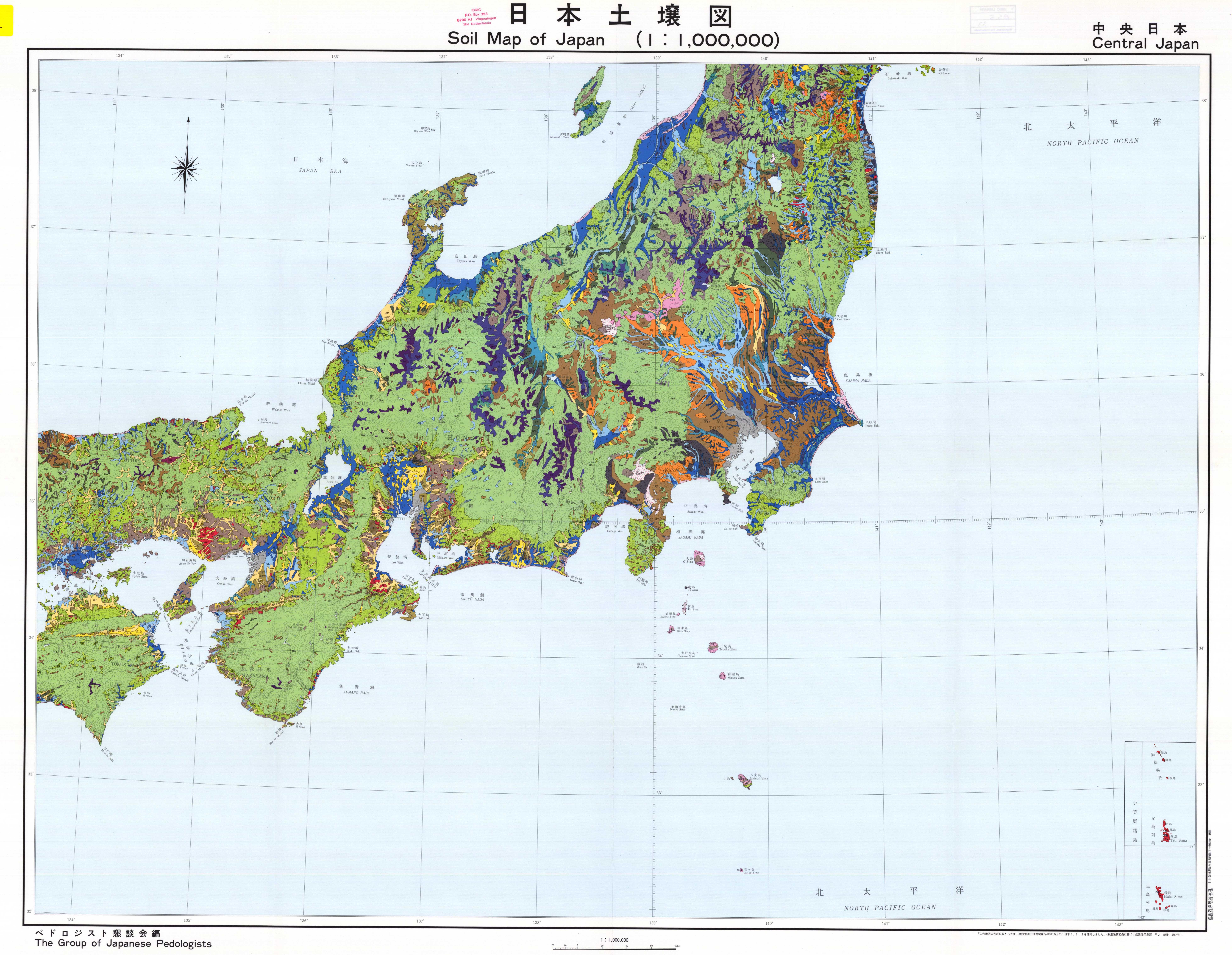 Soil Map Of Japan Central Japan Legend Available In MapRoom - Japan map legend