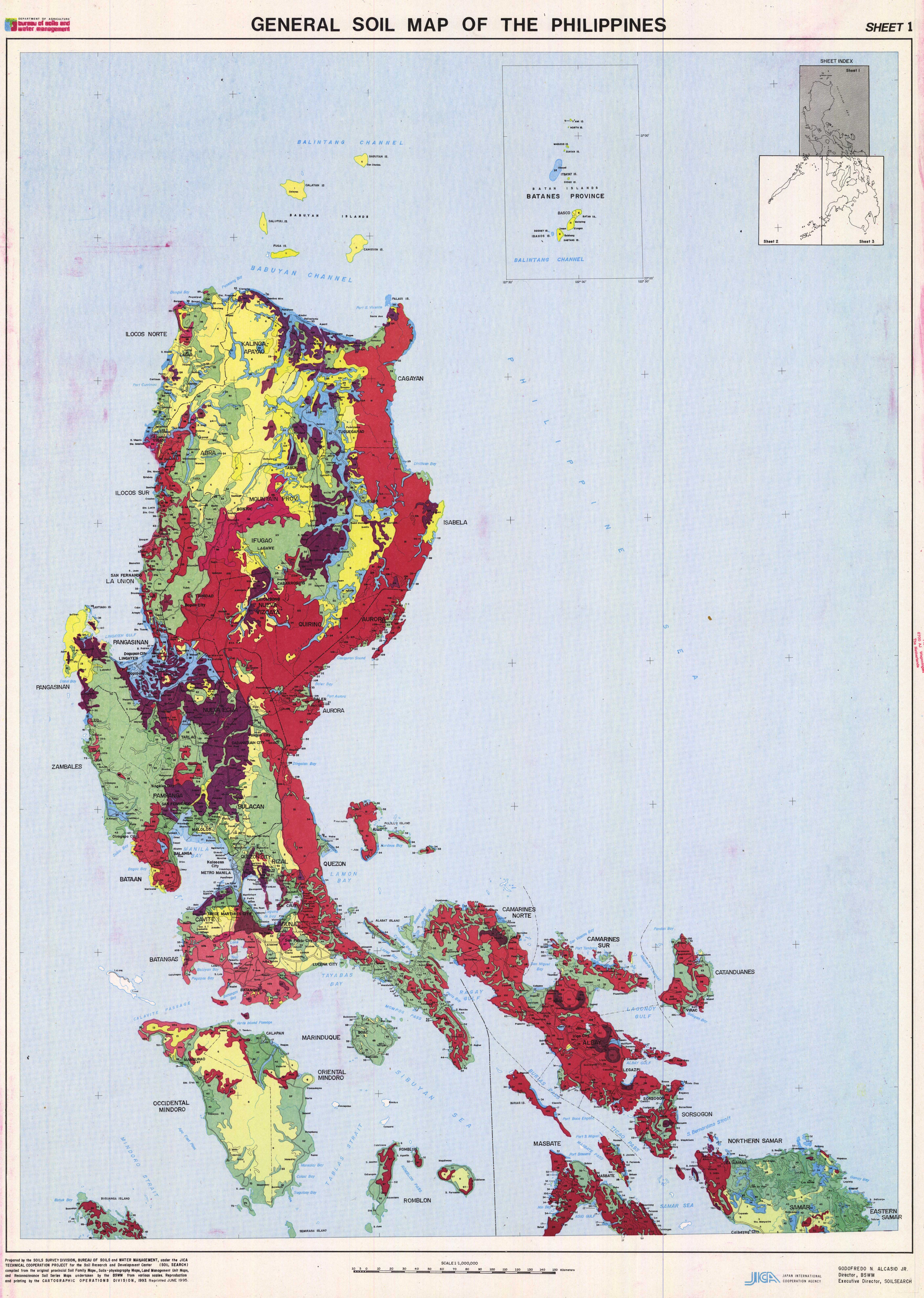 General Soil Map of the Philippines. Sheet 1. - ESDAC - European ...