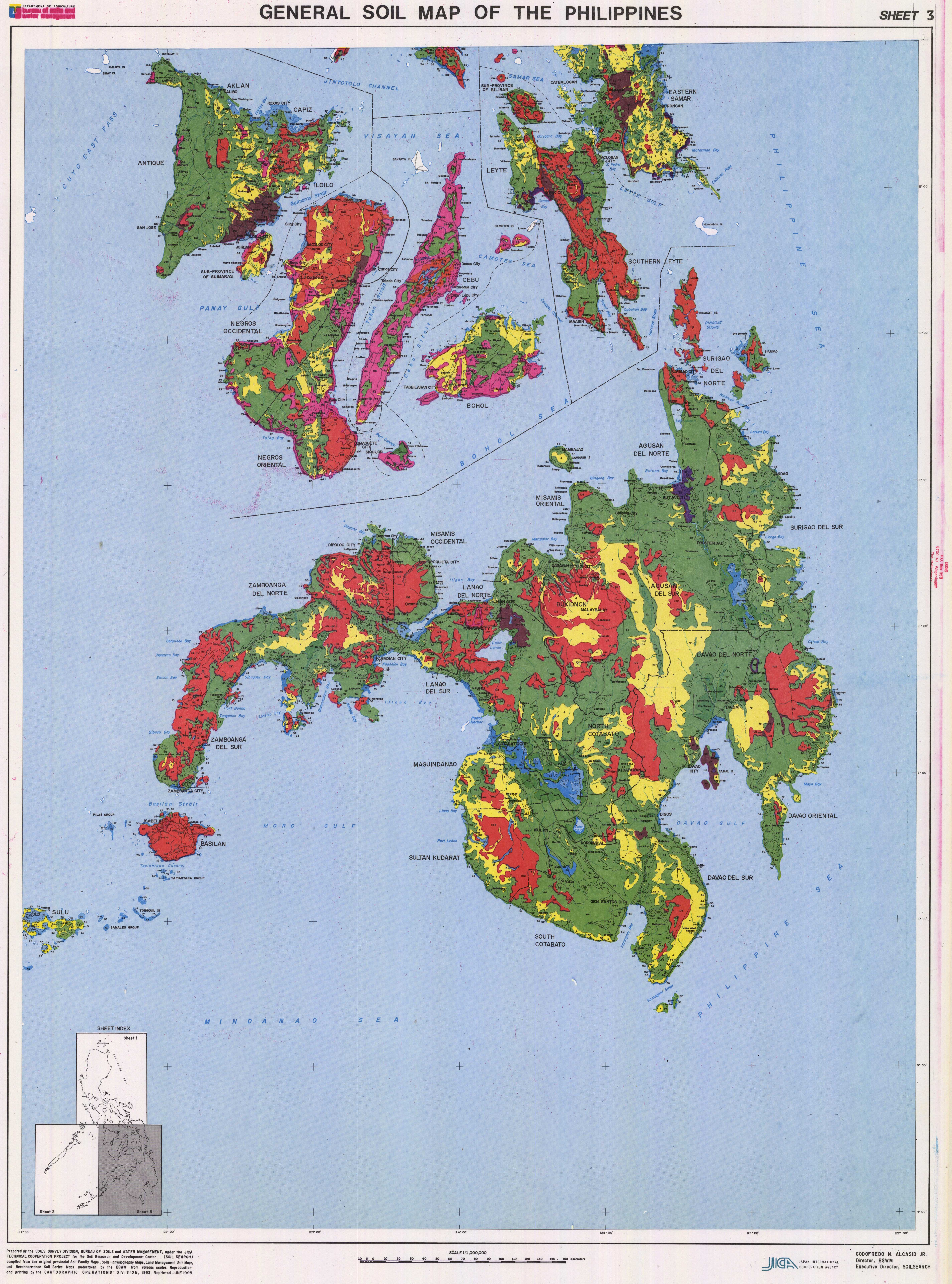 General Soil Map of the Philippines Sheet 3  ESDAC  European
