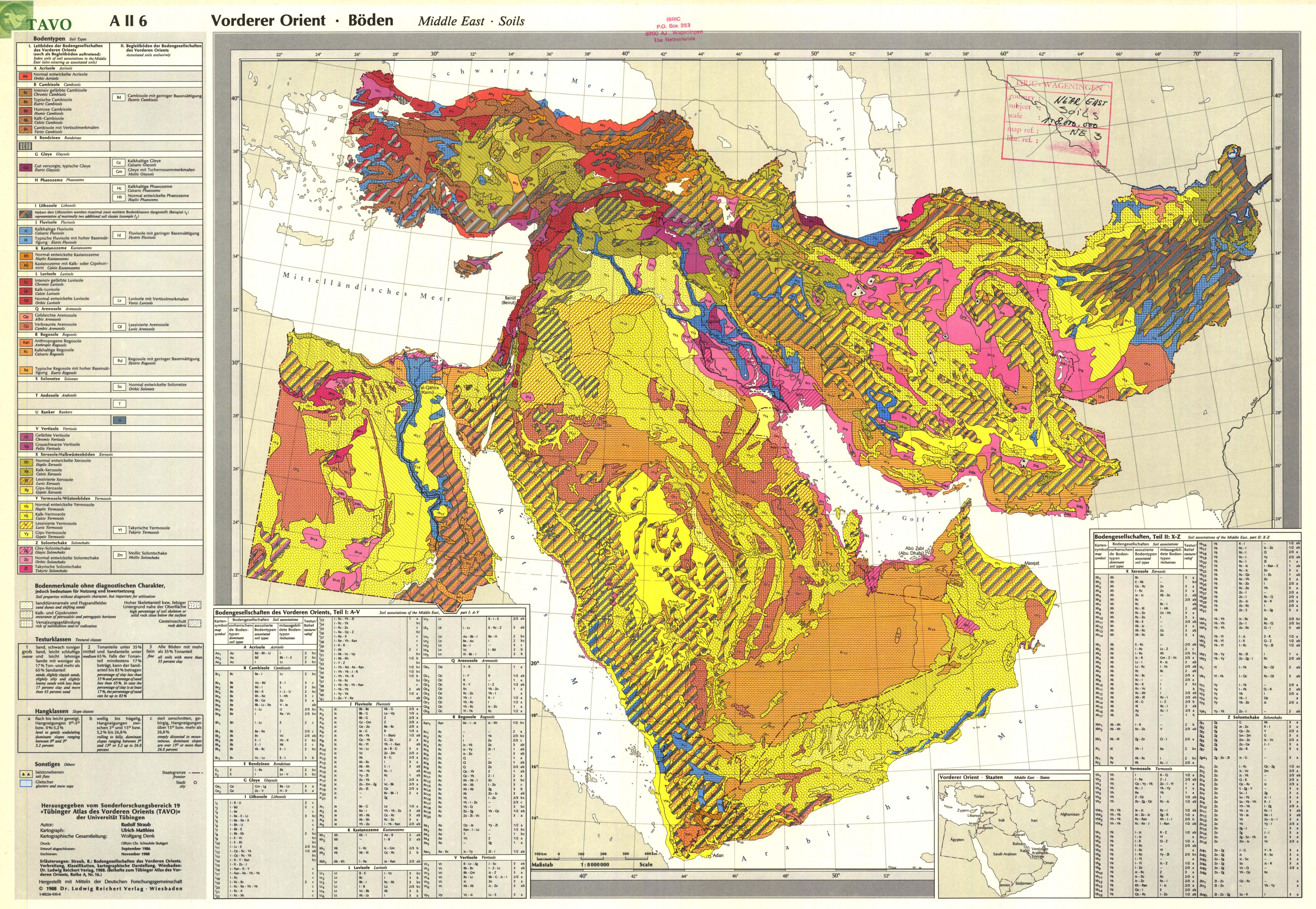 Vorderer Orient Bden AII6 Middle East Soils  ESDAC