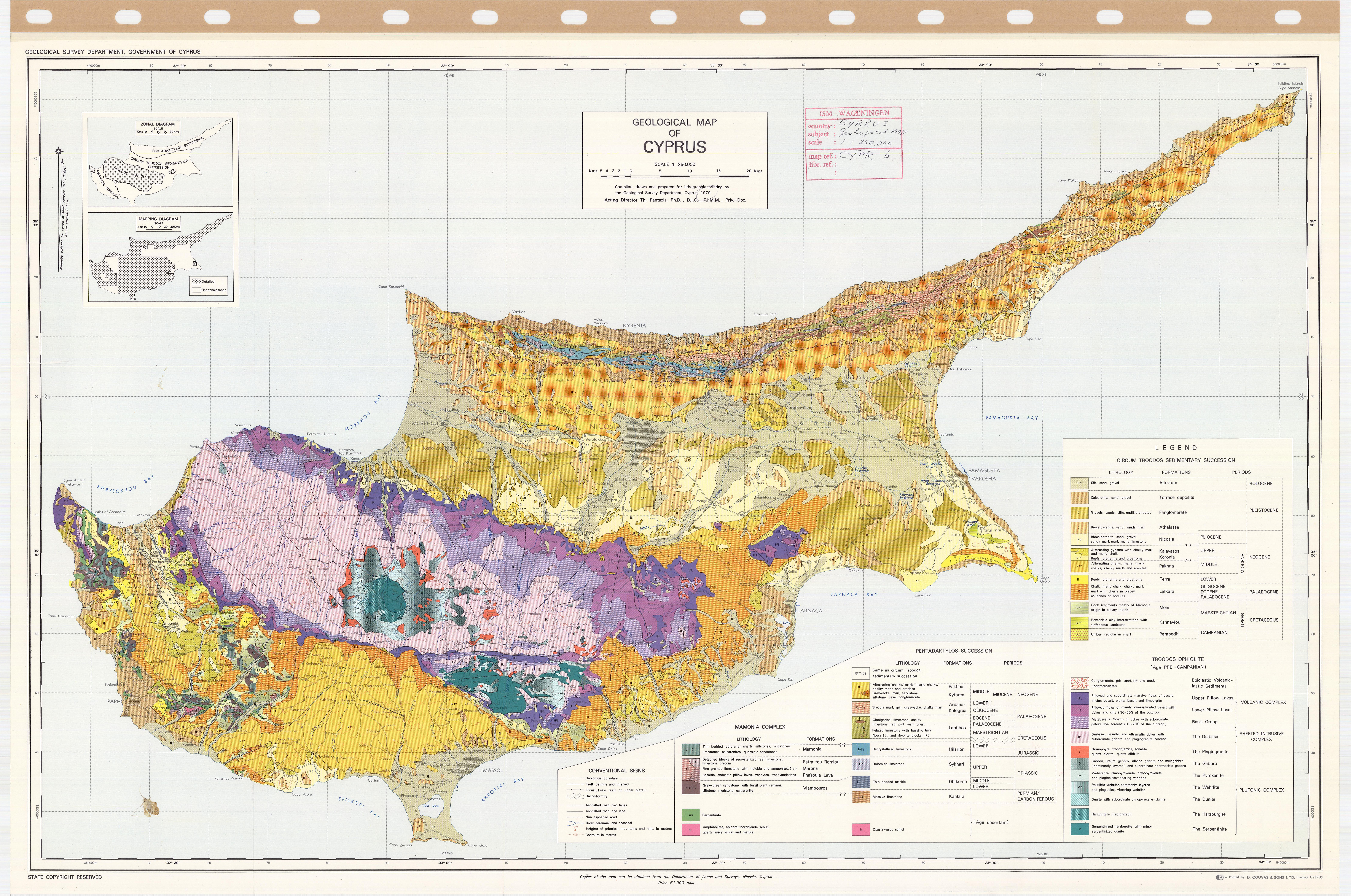 Geological Map of Cyprus. - ESDAC - European Commission
