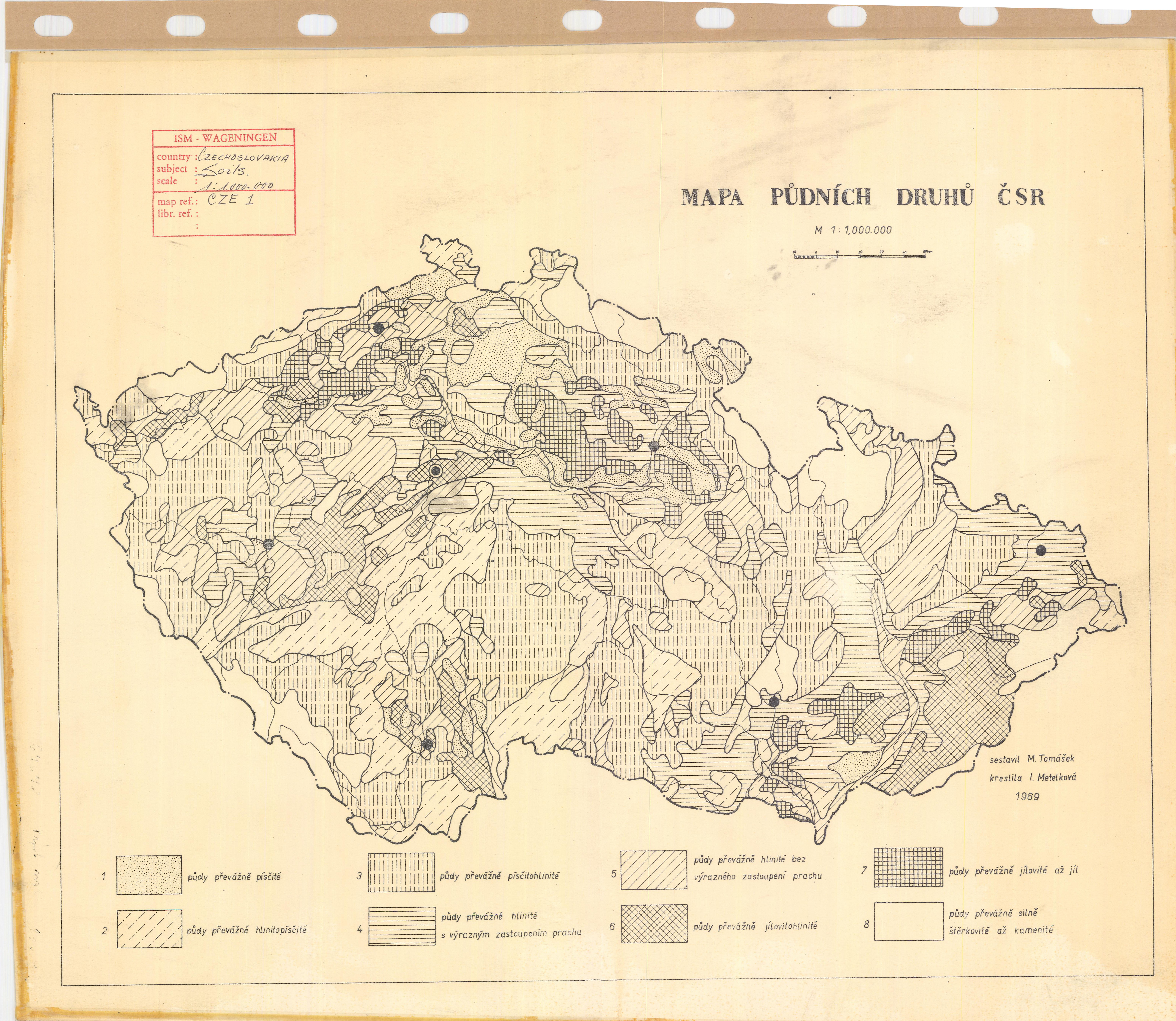 soil map Czech Republic Pudnich Druhu Csr ESDAC European