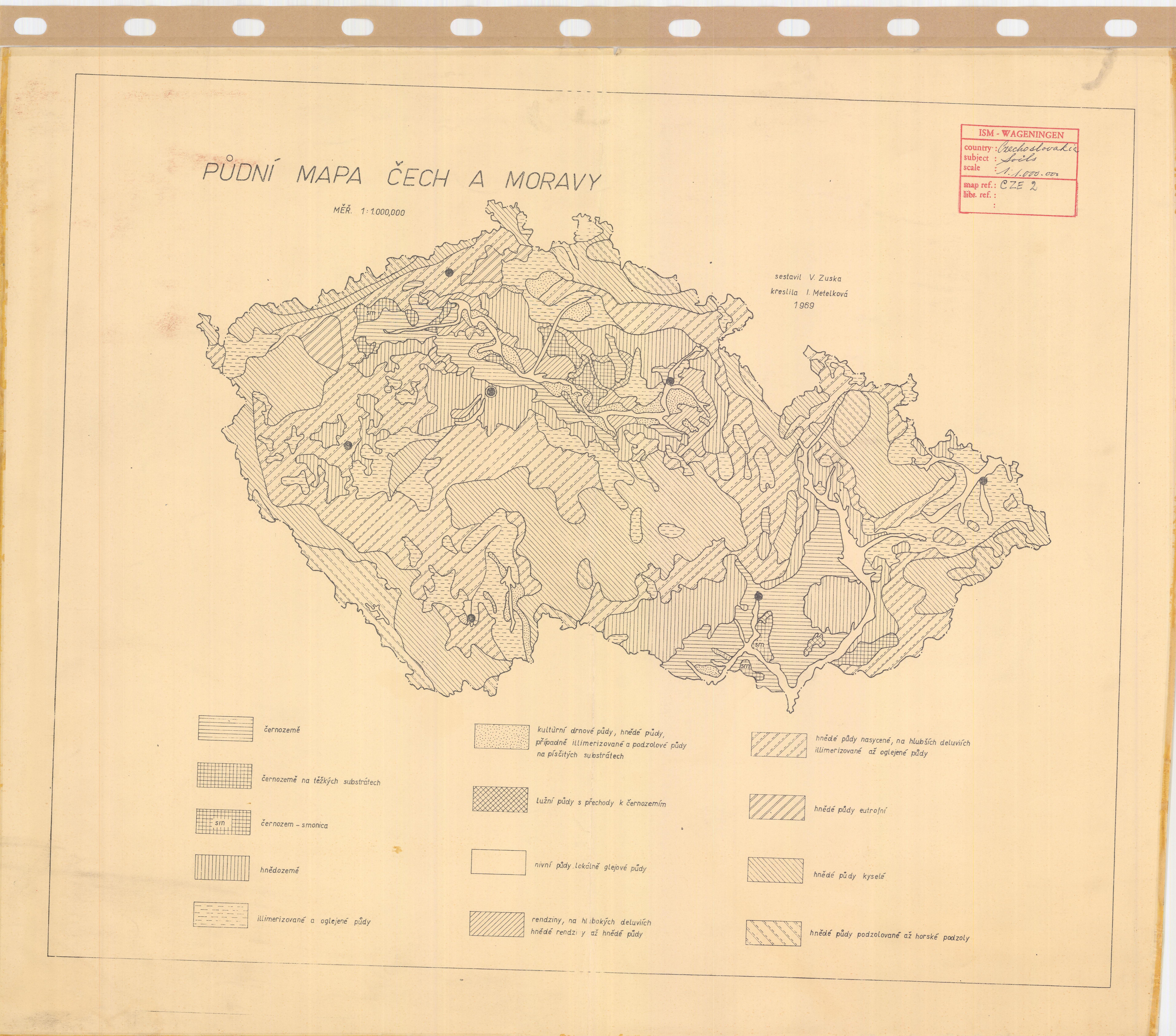 Soil Map Czech Republic Pudni Mapa Cech A Moravy Esdac