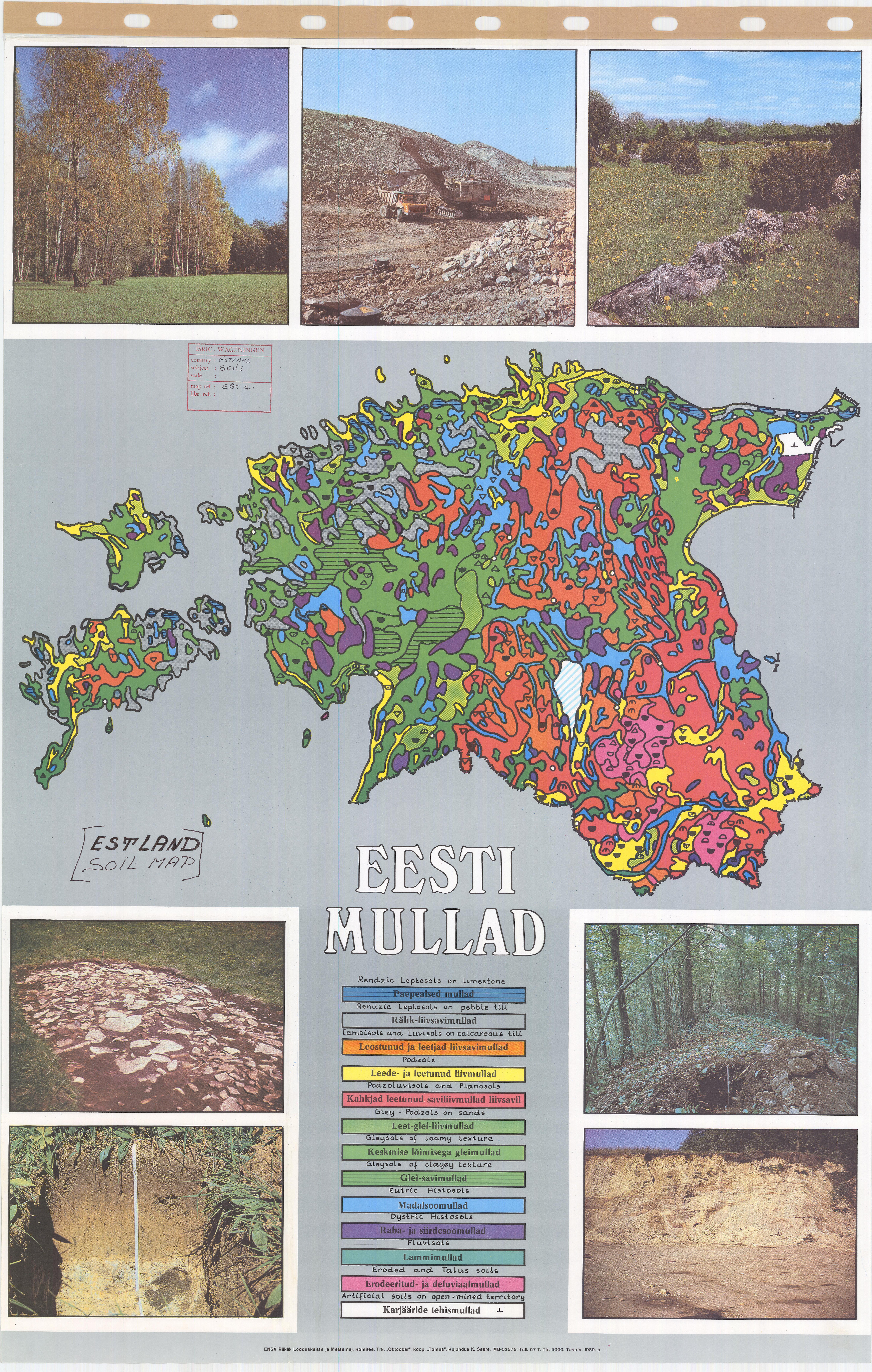 Soil map Estonia - Eesti Mullad - ESDAC - European Commission