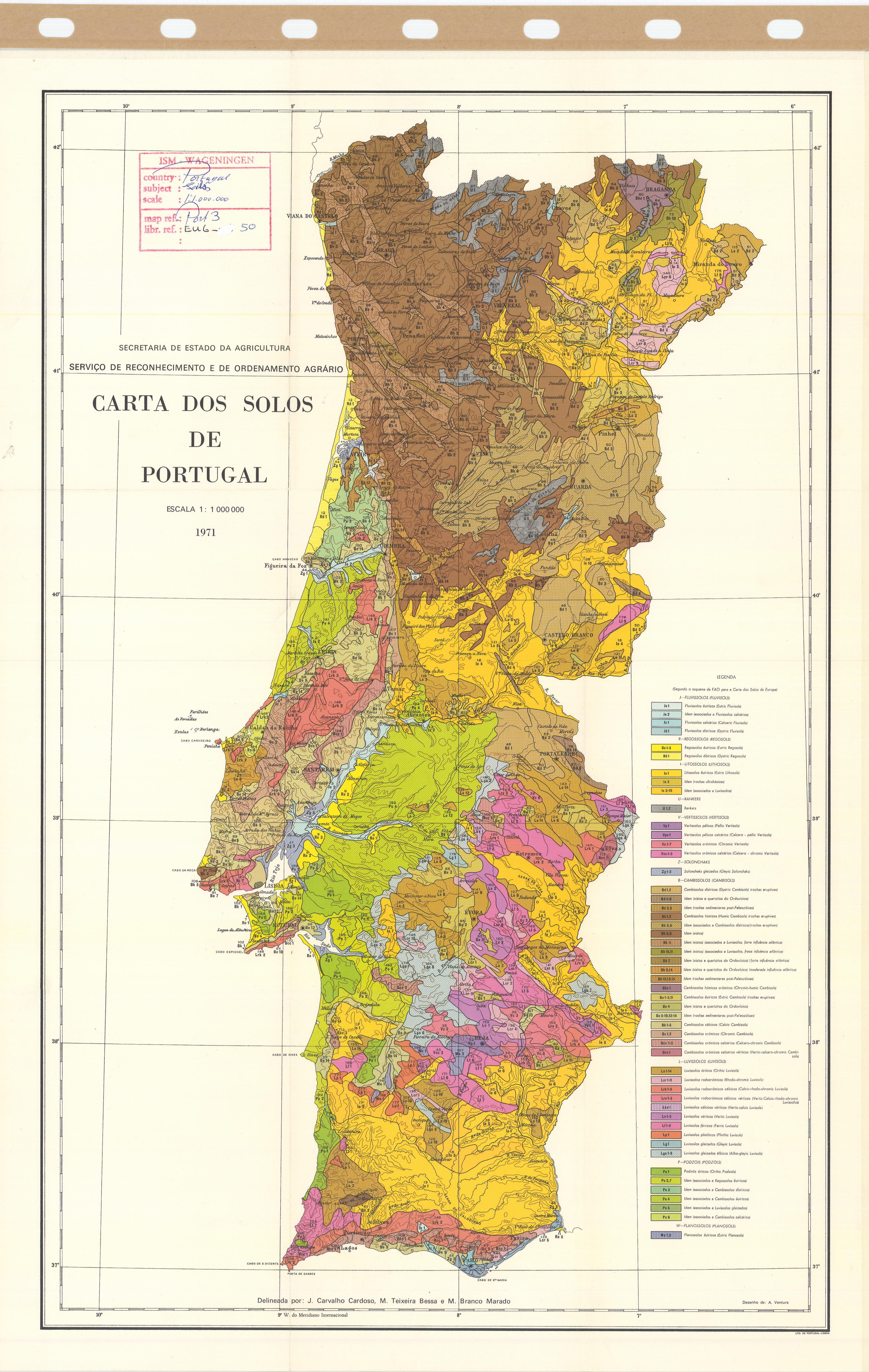Soil Map Portugal Carta Dos Solos De Portugal ESDAC European - Portugal rainfall map