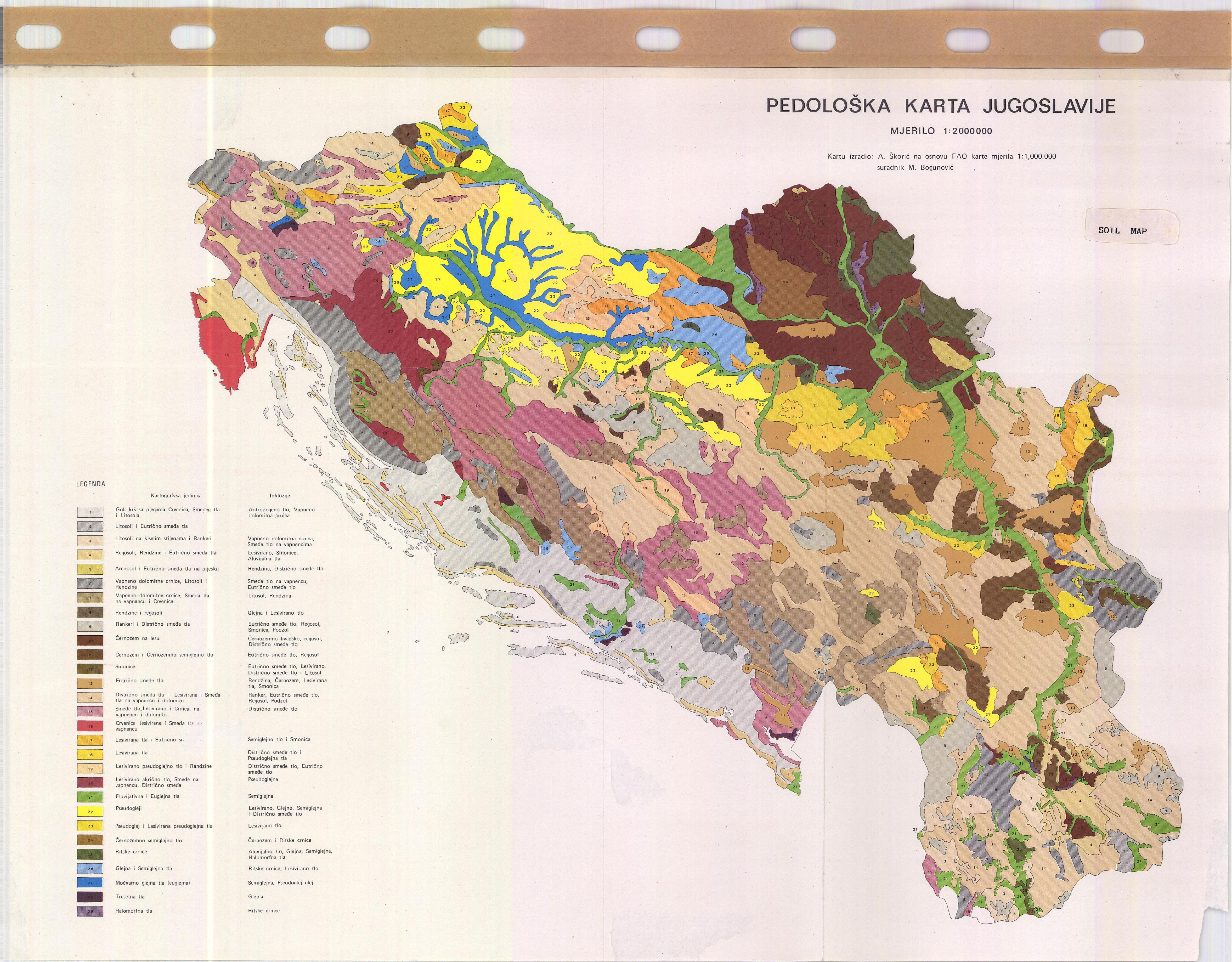 Soil Map Serbia Pedoloska Karta Jugoslavije Esdac European