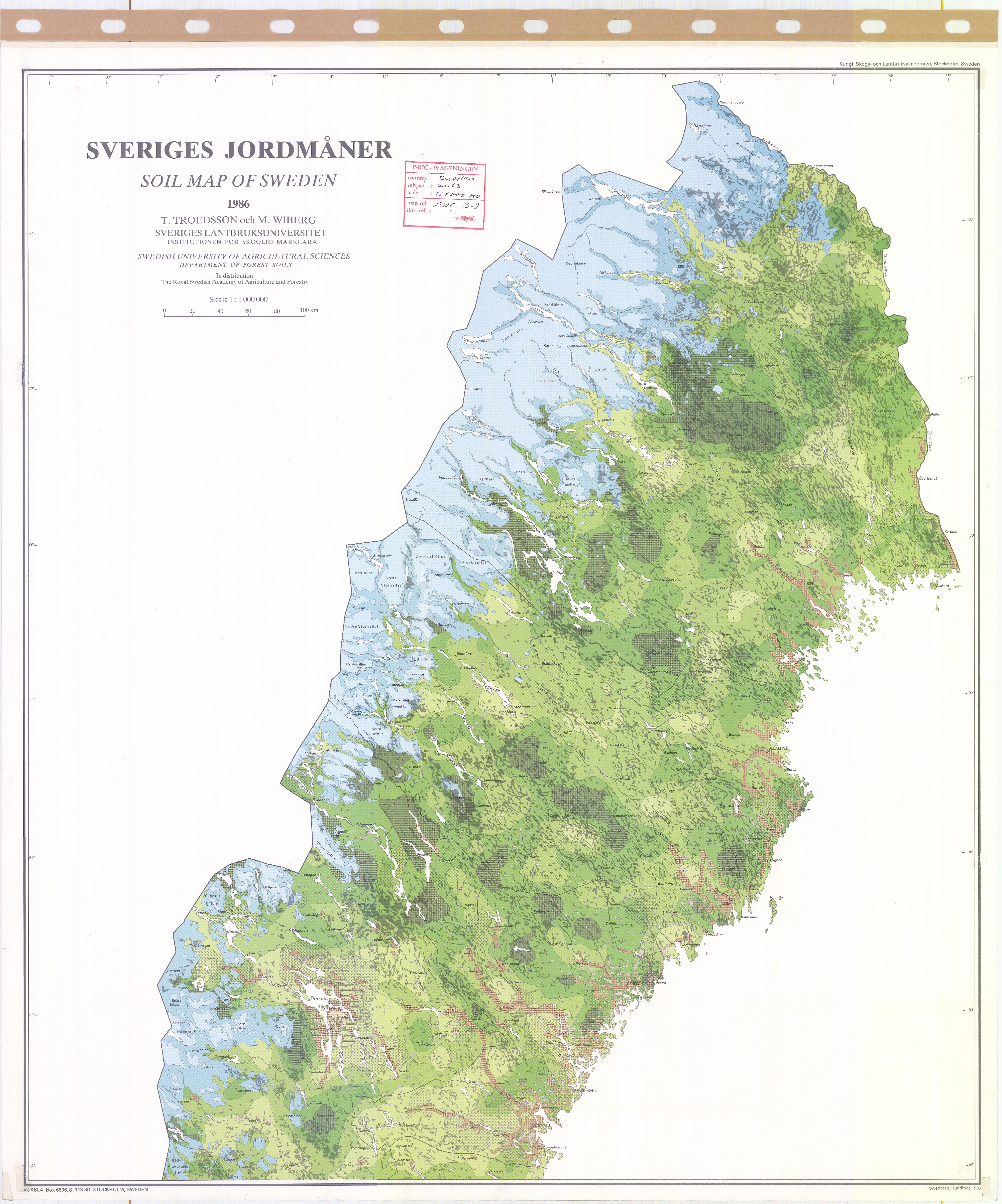 Soil Map Of Sweden Sheet ESDAC European Commission - Sweden forest map