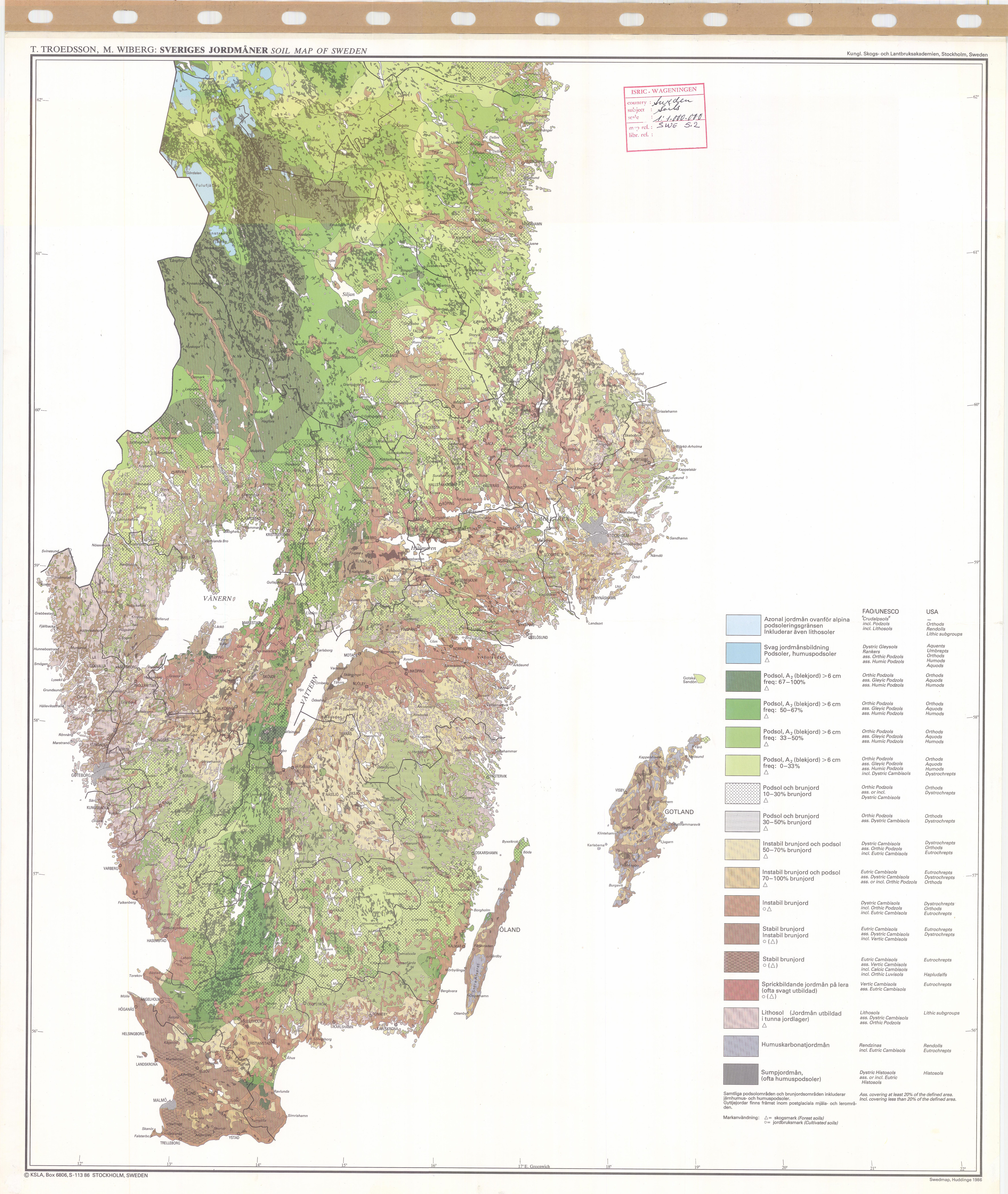 Soil Map Of Sweden Sheet ESDAC European Commission - Sweden map gotland