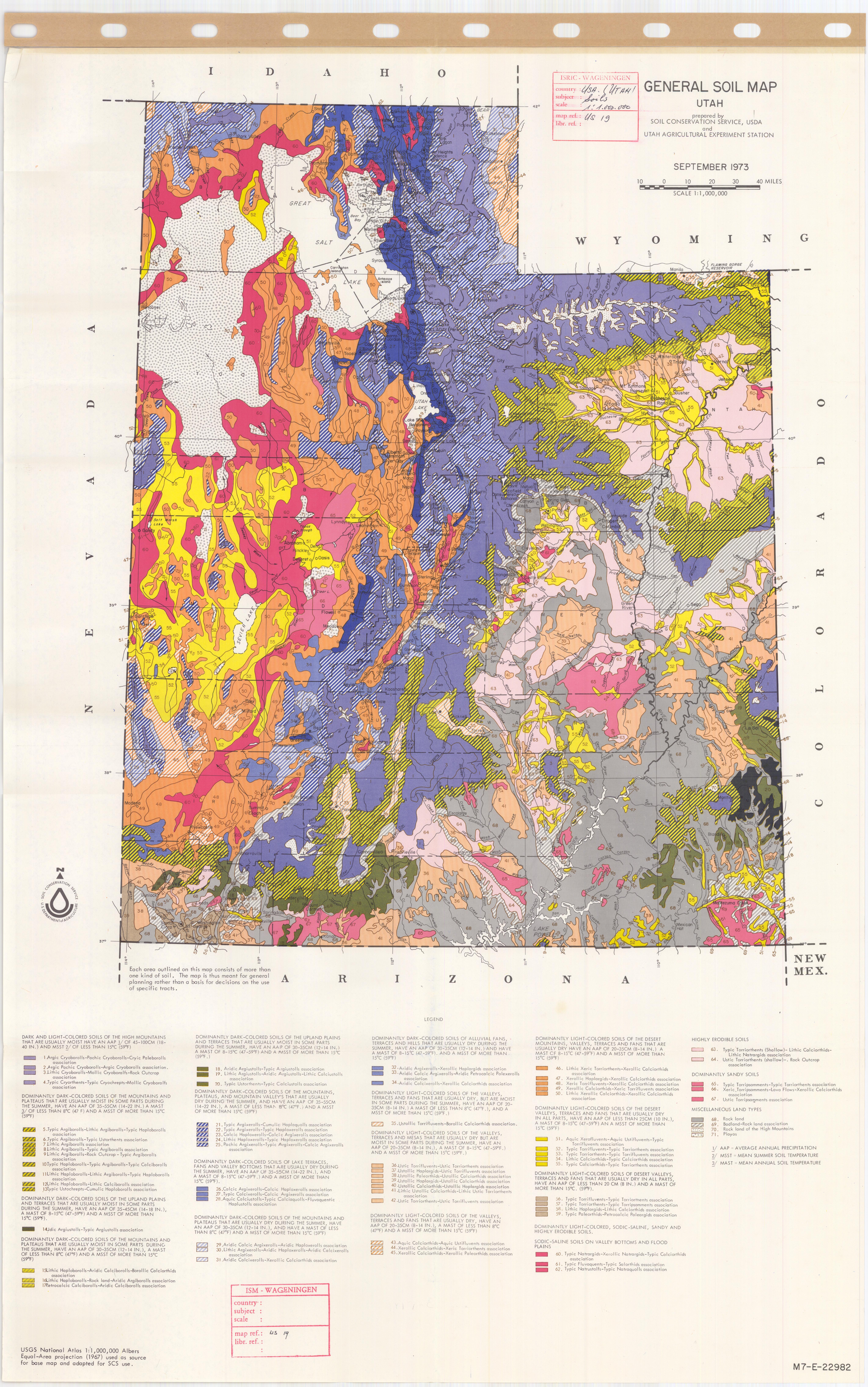 General Soil Map Utah - ESDAC - European Commission