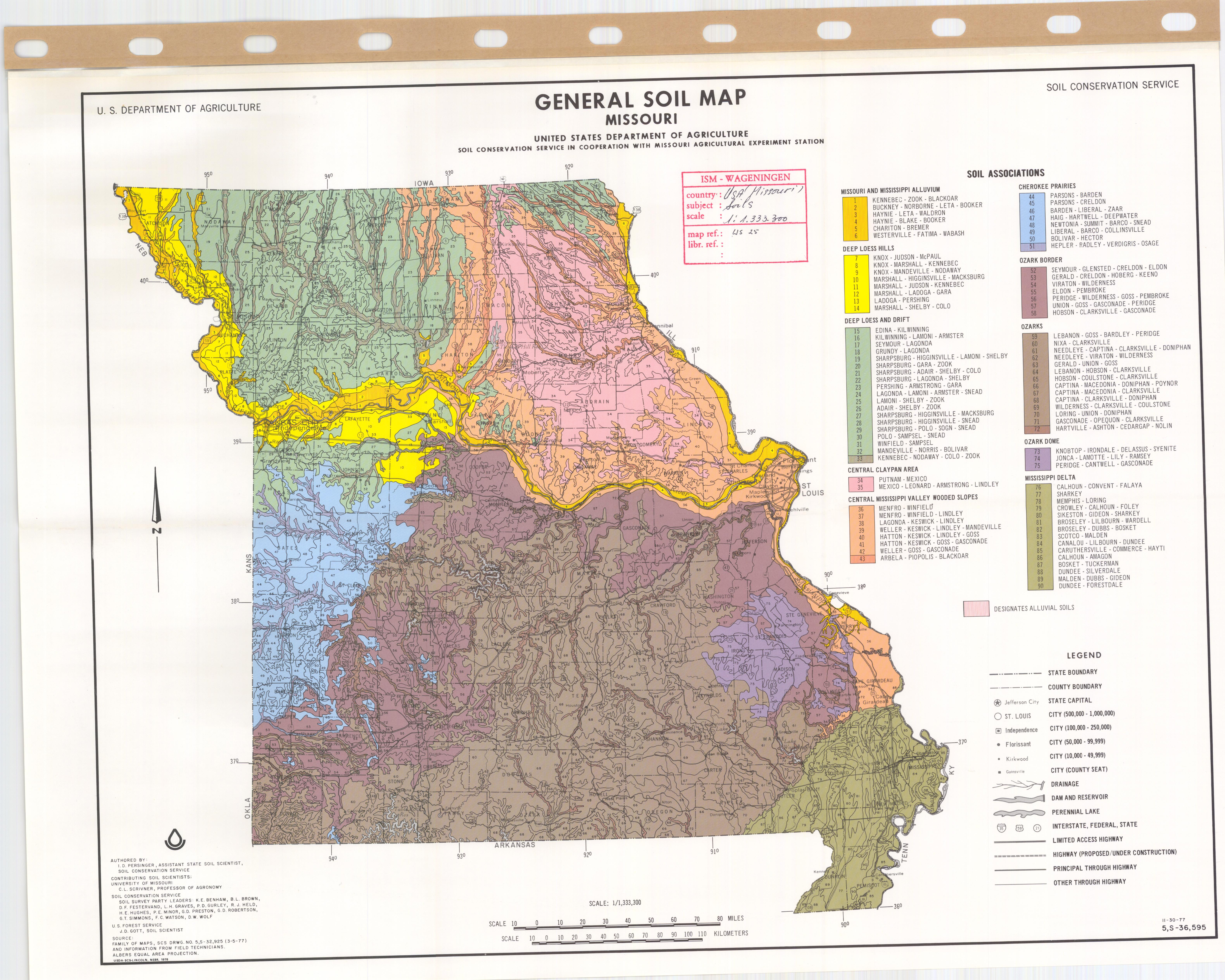 General Soil Map Missouri Esdac European Commission - Us-map-with-missouri